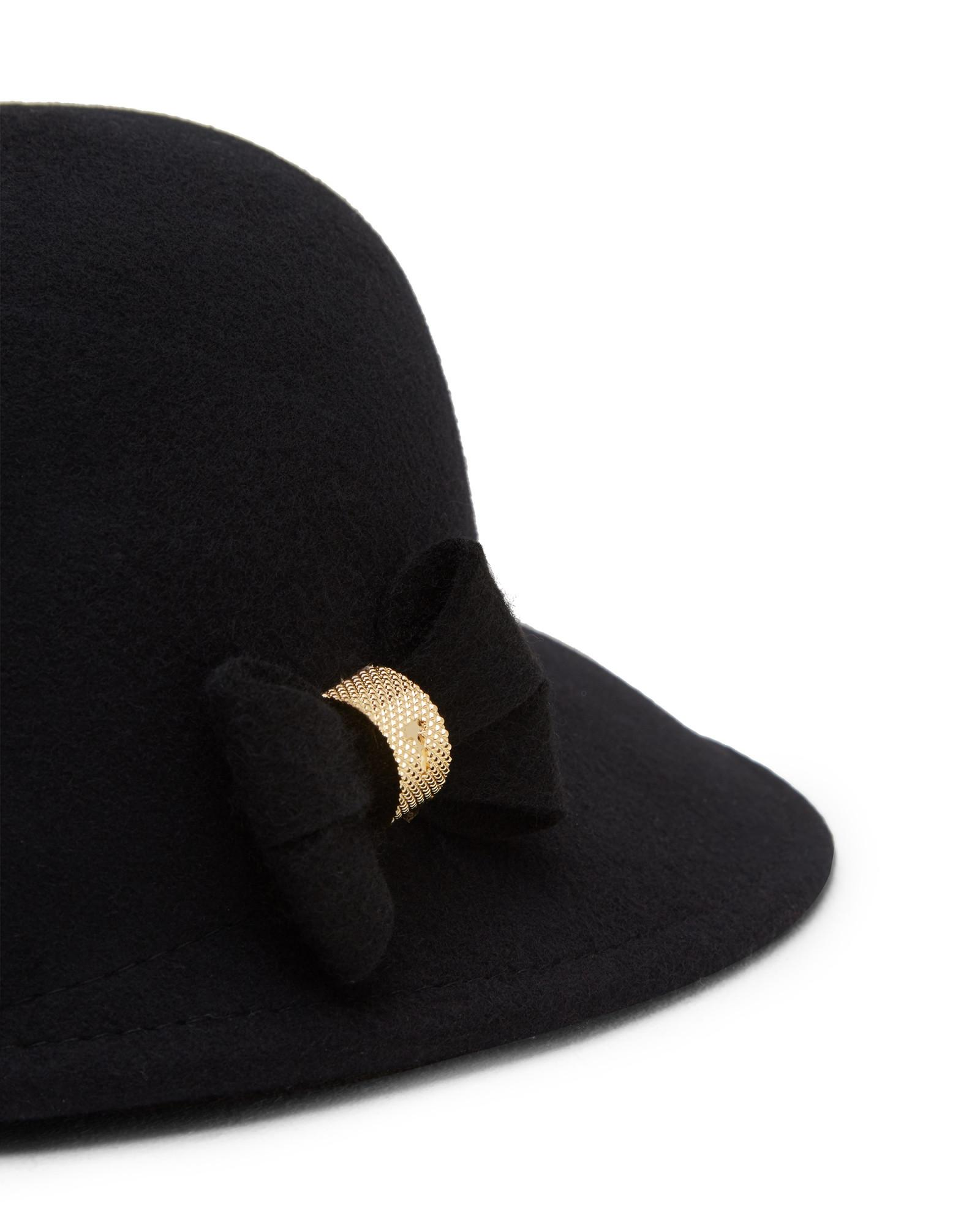 25e8395ab4489 Lyst - Ted Baker Mini Bow Cap in Black