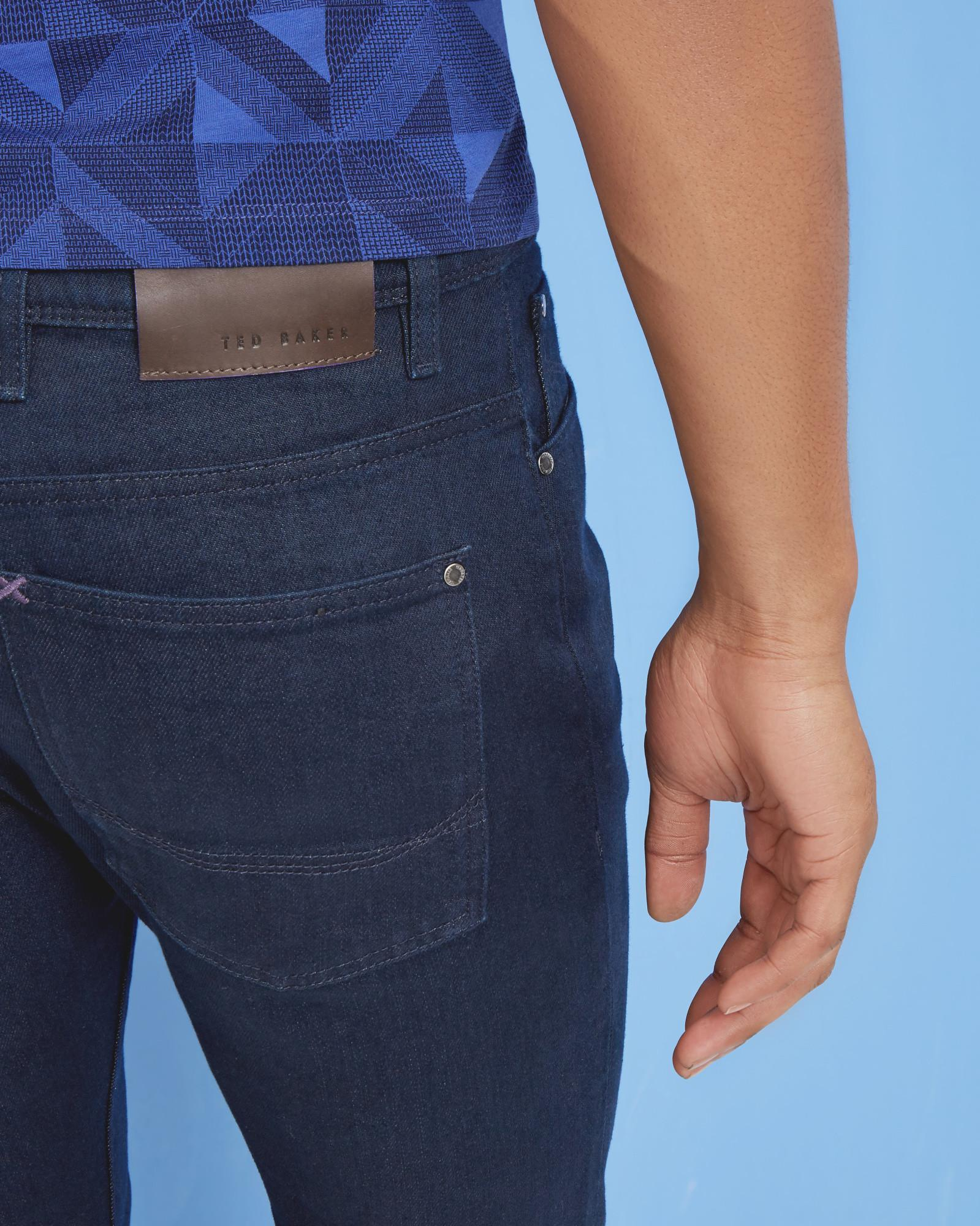Lyst Ted Baker Tapered Fit Jeans In Blue For Men