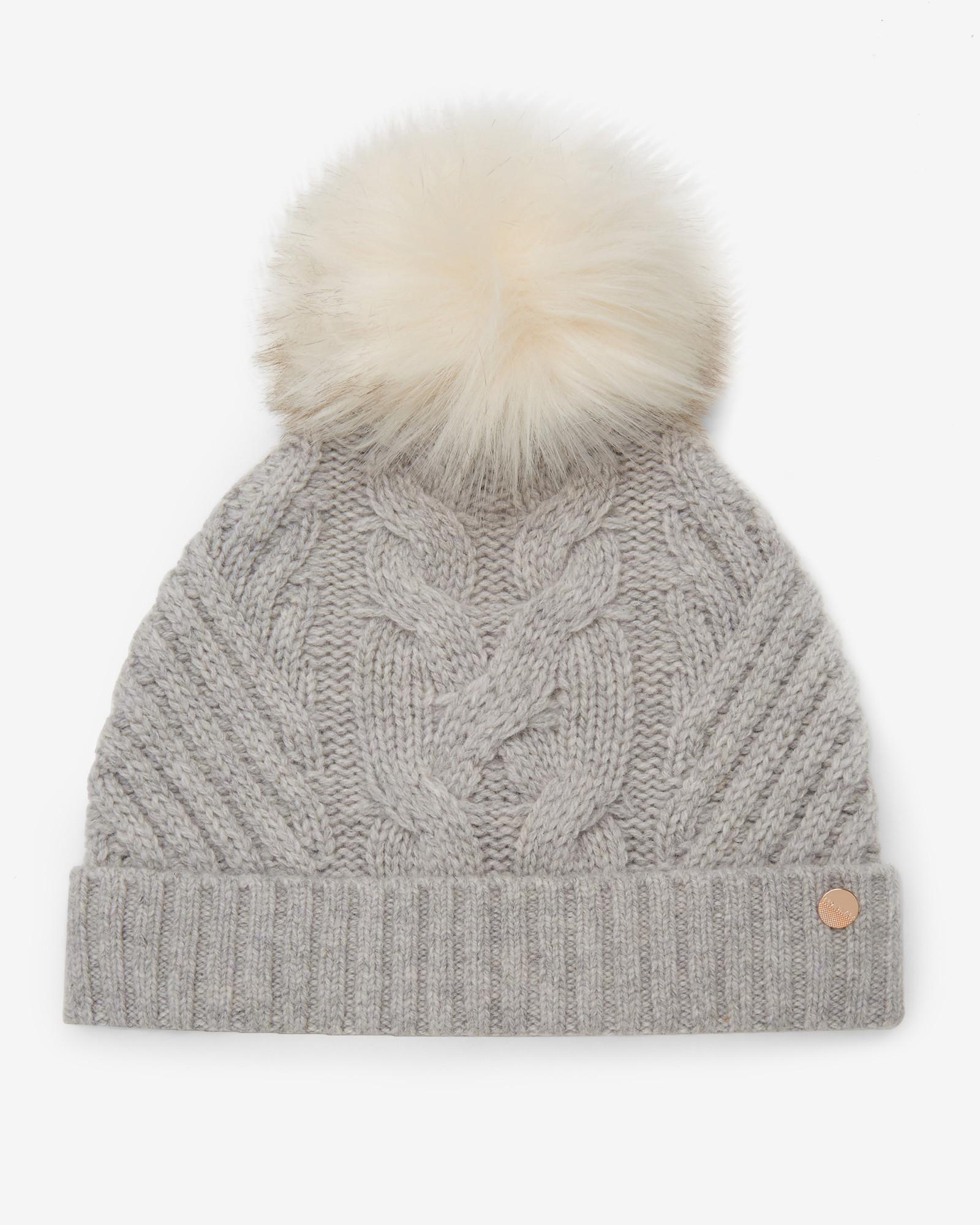 24ef7de7837 Ted Baker Pom-pom Bobble Hat in Gray - Lyst