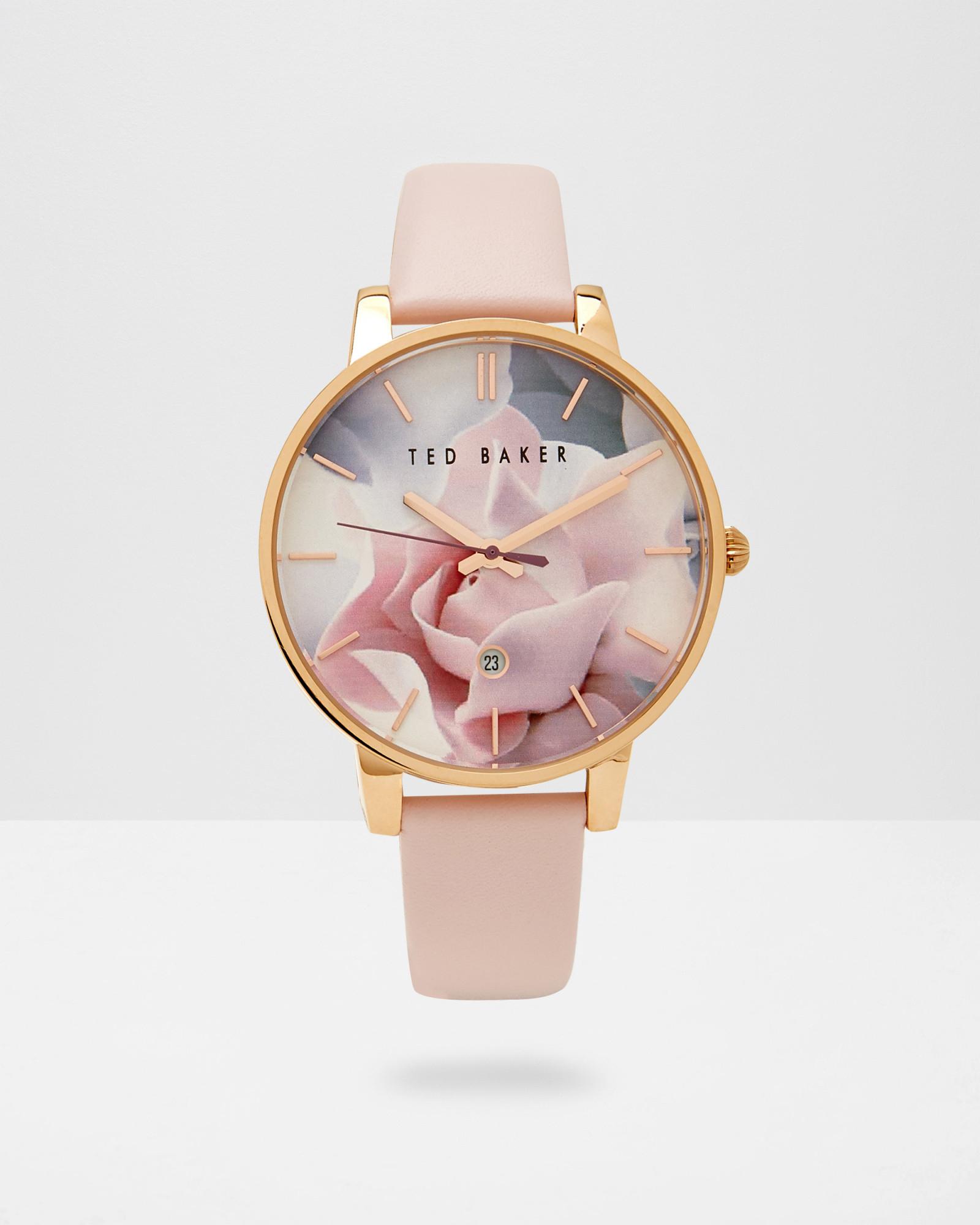 1af73f00076f Lyst - Ted Baker Porcelain Rose Dial Watch