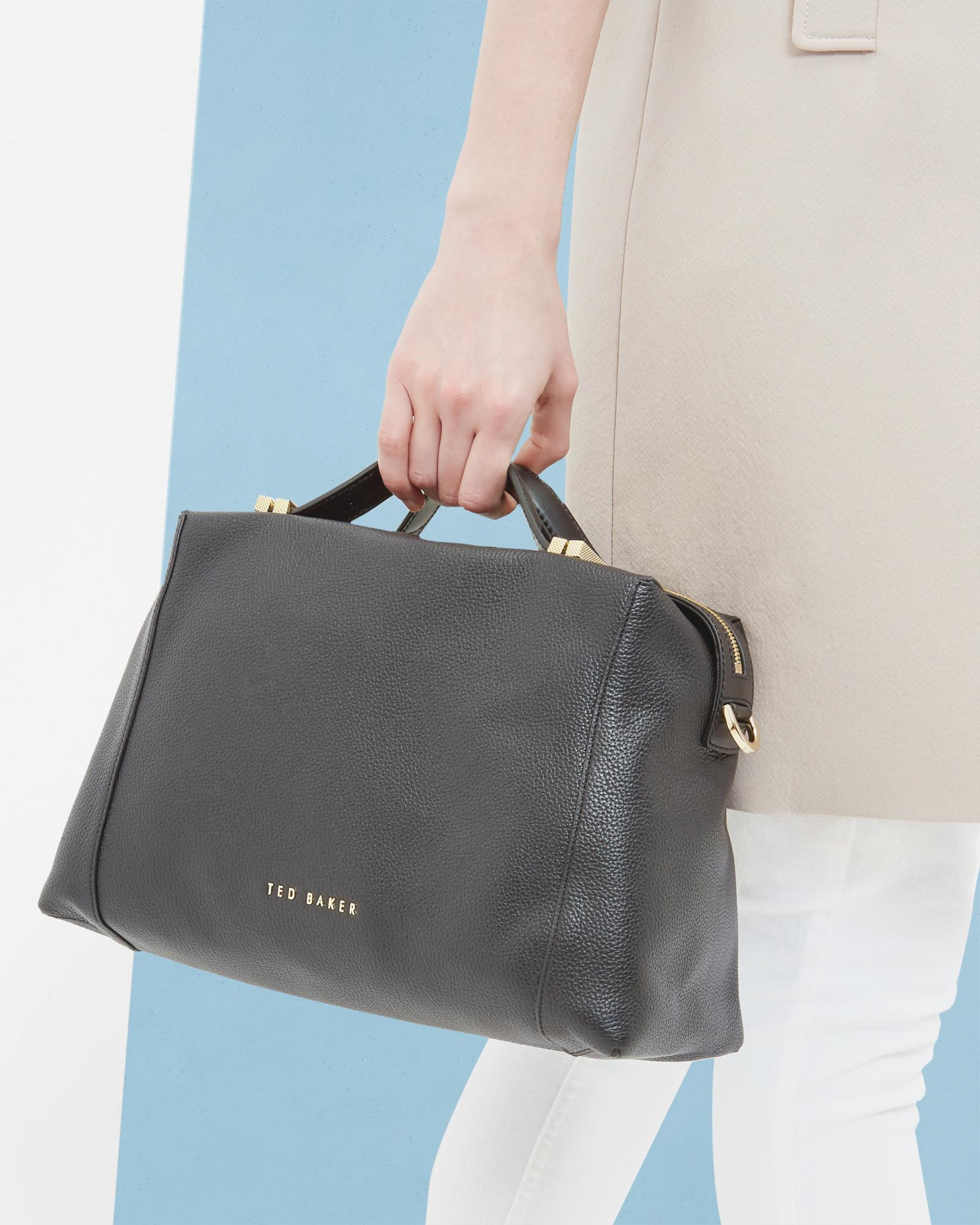 105f050450fa Lyst - Ted Baker Pop Handle Large Tote Bag in Black