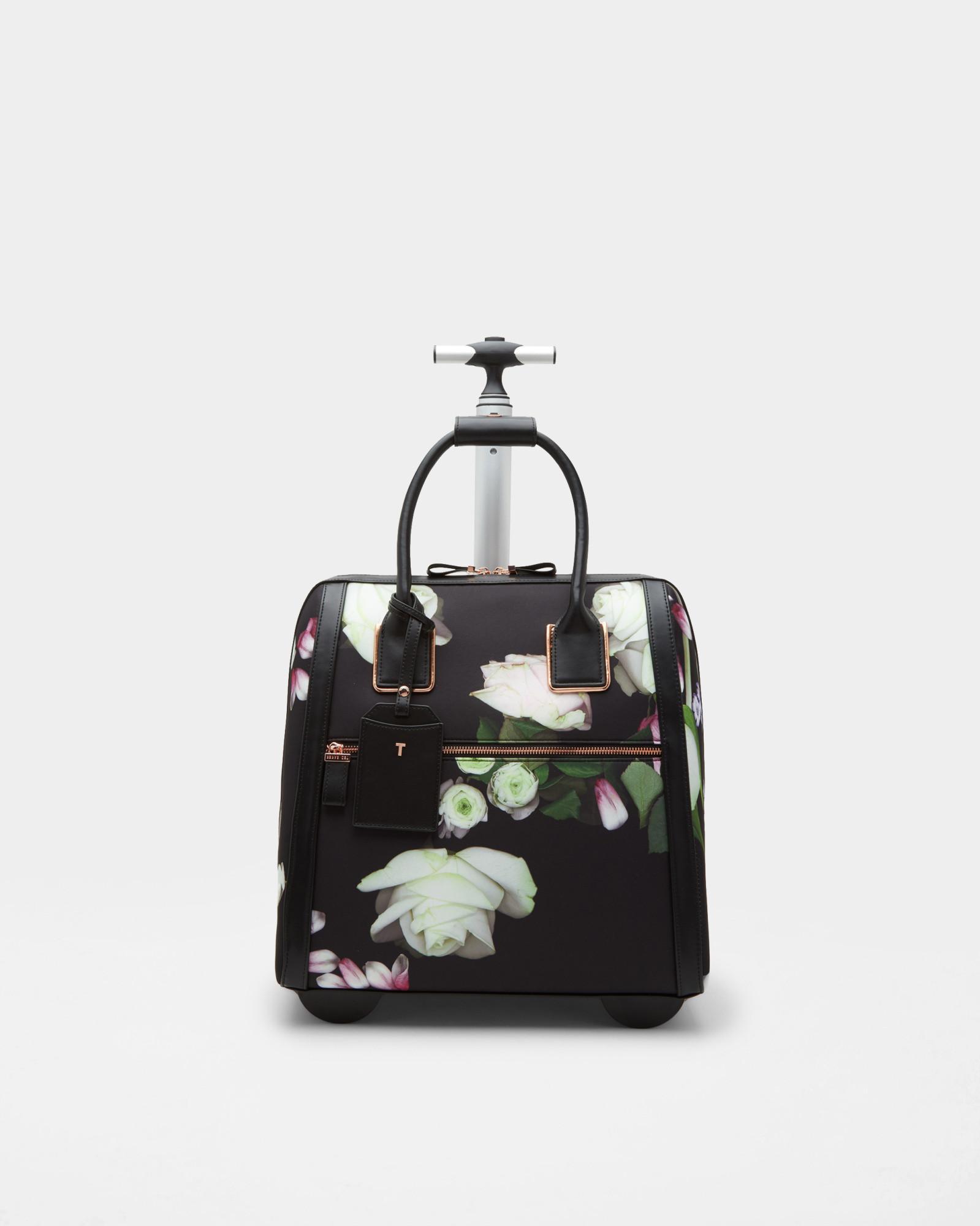 814420aec Lyst - Ted Baker Kensington Floral Travel Bag in Black