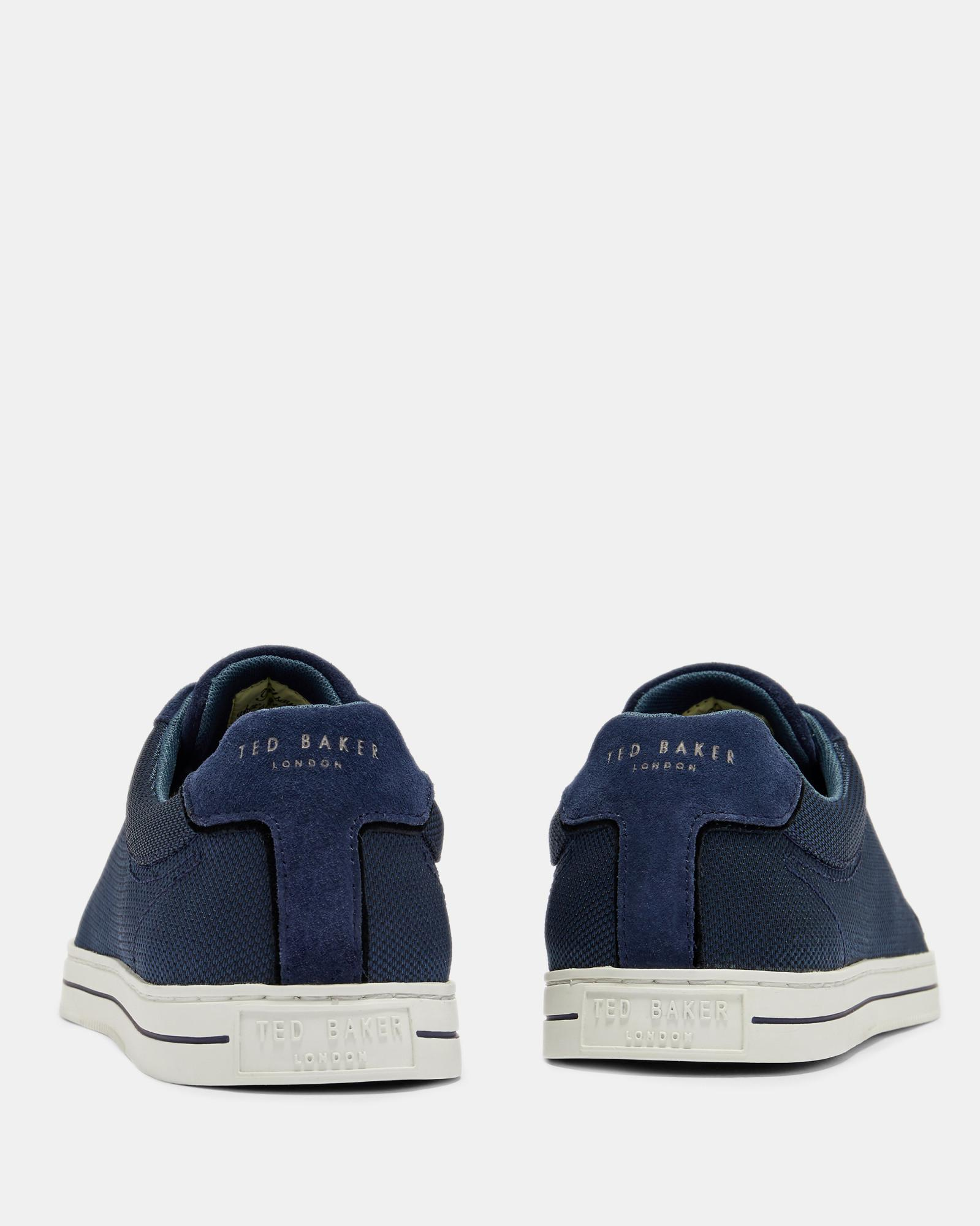 1d33522388e04 Lyst - Ted Baker Suede Detail Trainers in Blue for Men