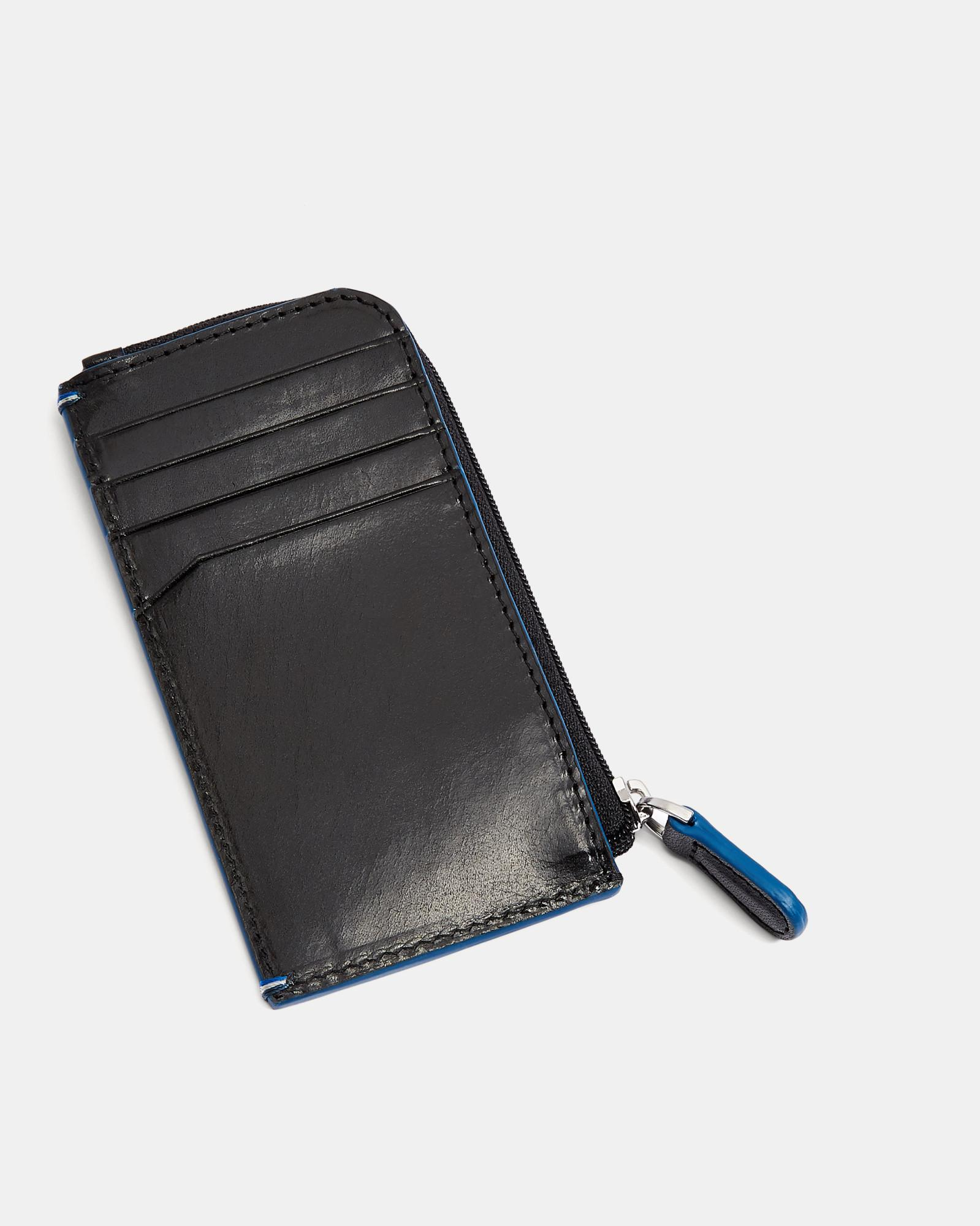 f51a75b5cff Lyst - Ted Baker Leather Card Holder in Black for Men