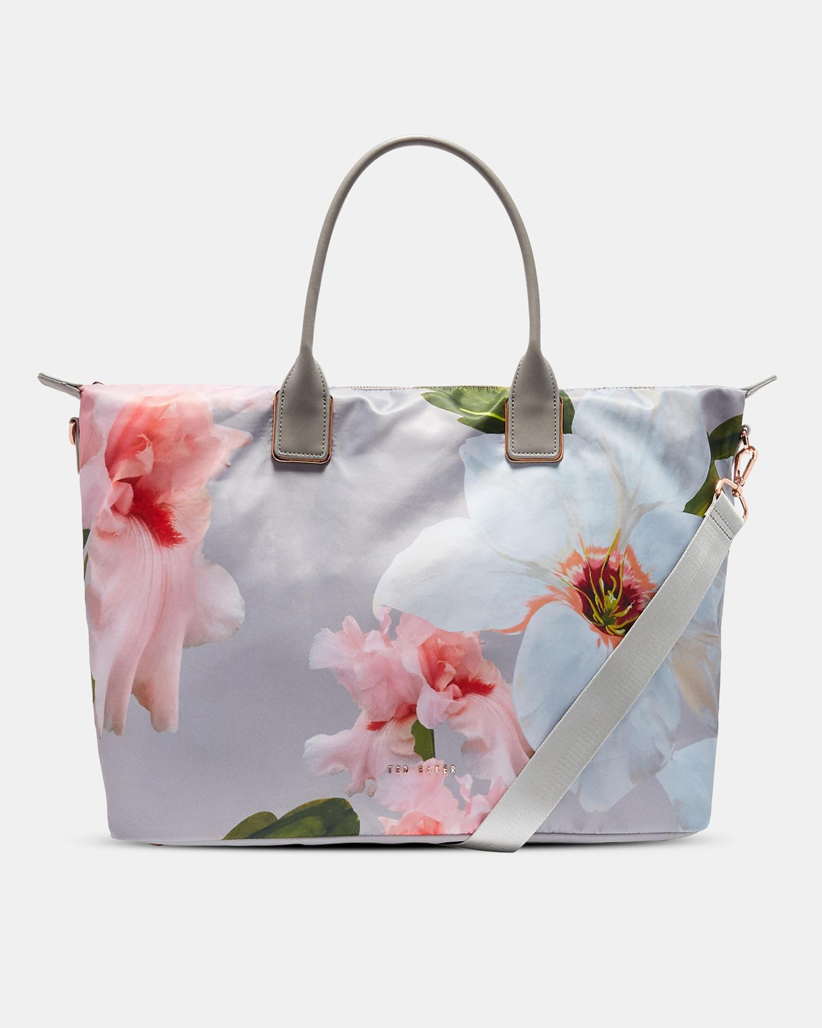 bd55b1cf4a14 Ted Baker Chatsworth Bloom Large Nylon Tote Bag in Gray - Lyst