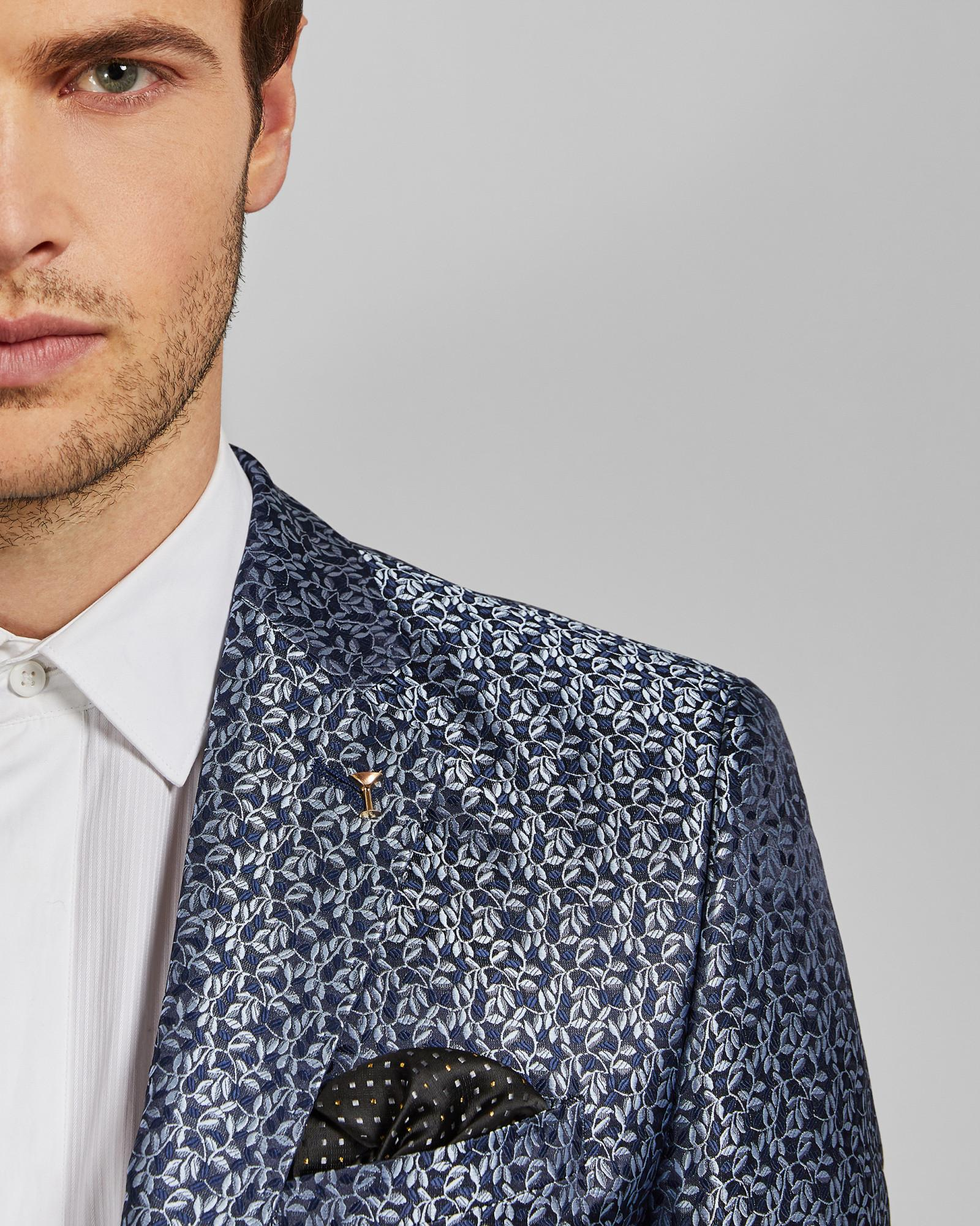 5776a1905 Lyst - Ted Baker Pashion Jacquard Jacket in Blue for Men