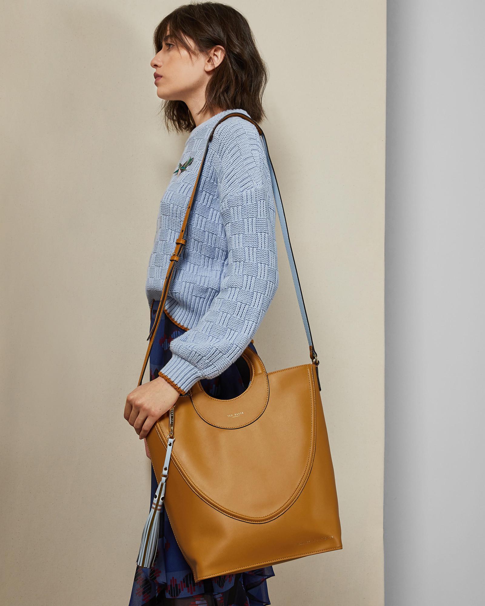 ac016a7c0f8b Lyst - Ted Baker Leather Shopper Bag