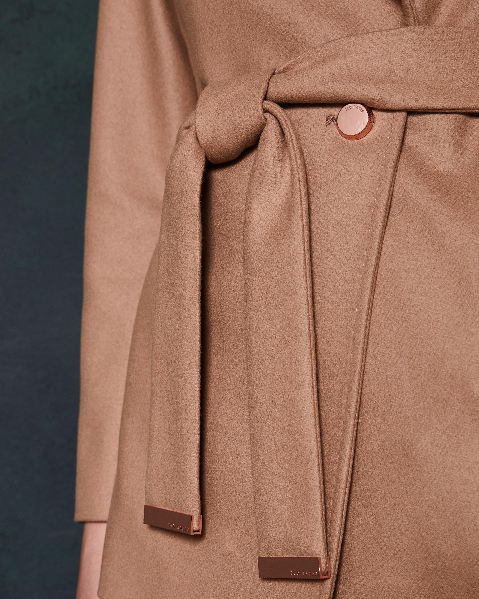 ebd7c62a1bb15e Ted Baker Short Wool Wrap Coat - Lyst