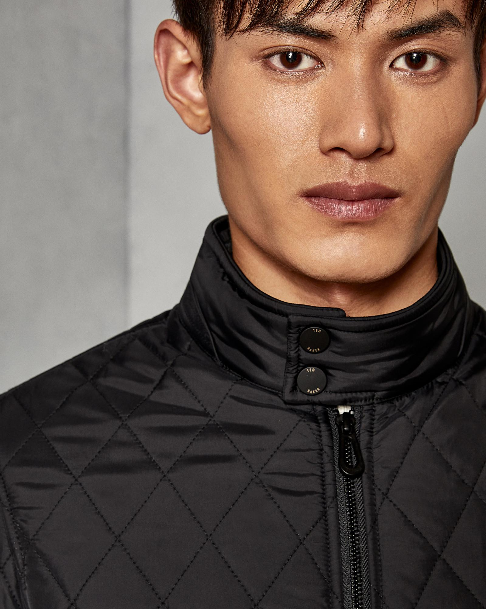 ca8dfece1e514c Lyst - Ted Baker Quilted Jacket in Black for Men