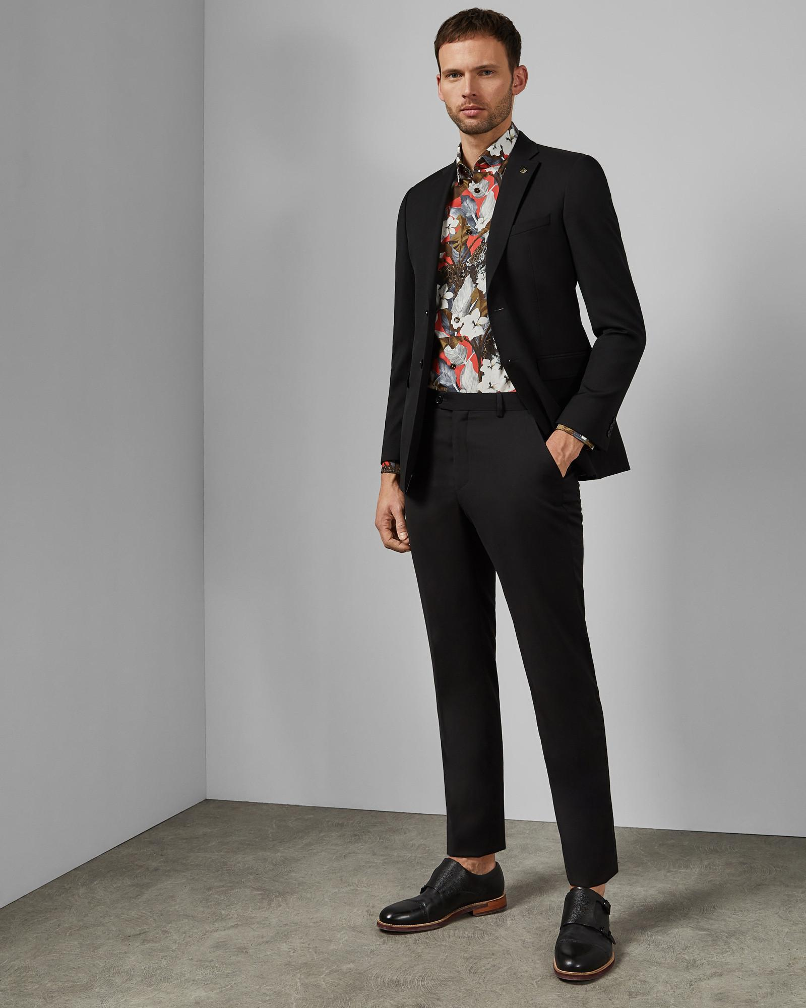 8ae0d87c3ff2 Lyst - Ted Baker Floral Cotton Leopard Shirt in Red for Men