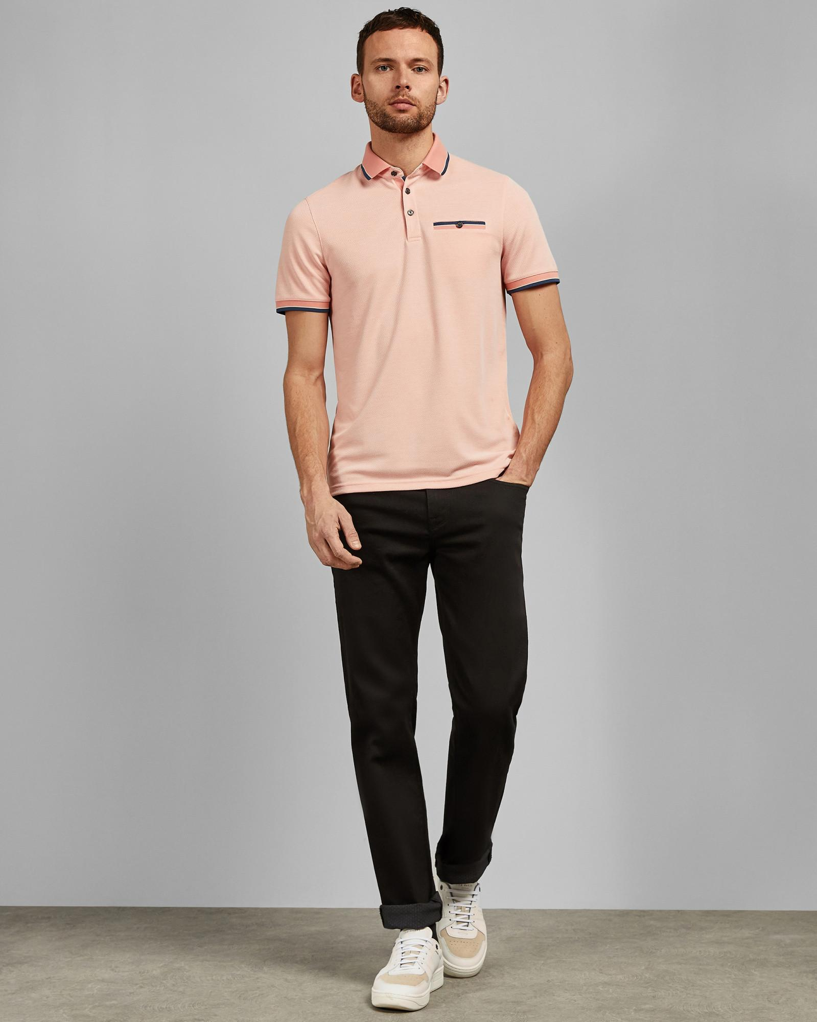 470d5801ae6c Lyst - Ted Baker Polo Shirt in Pink for Men