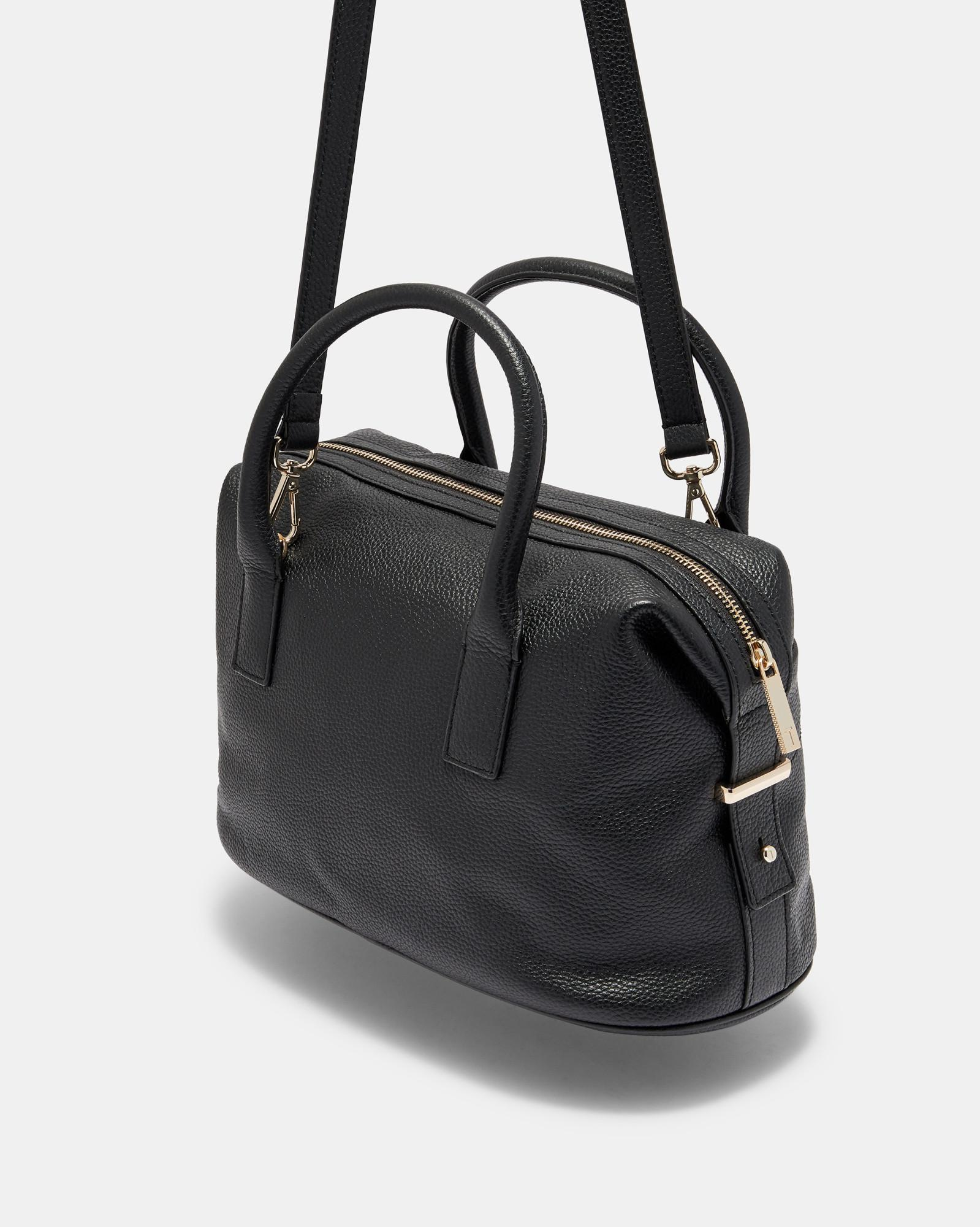 fede01b8d684 Lyst - Ted Baker Bow Detail Large Leather Bowler Bag in Black