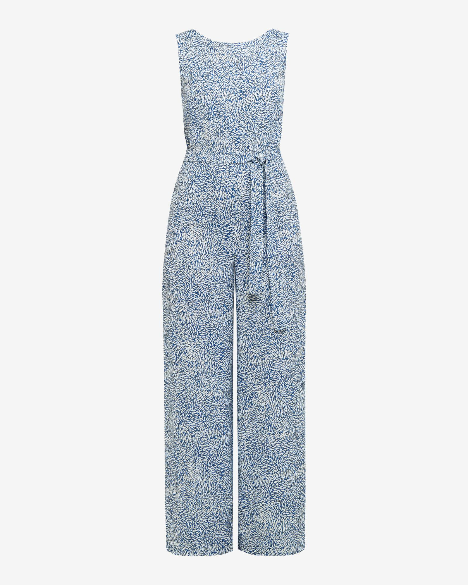 874cb9c02e2 Ted Baker Fish Print Wide-leg Jumpsuit in Blue - Lyst