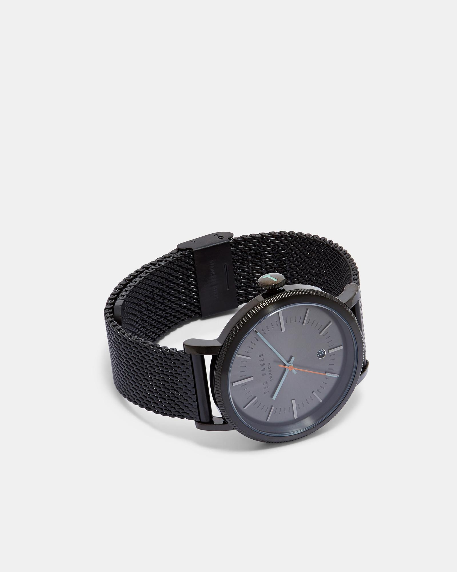 ce0a1cea8b8 Ted Baker Stainless Steel Watch in Black for Men - Lyst