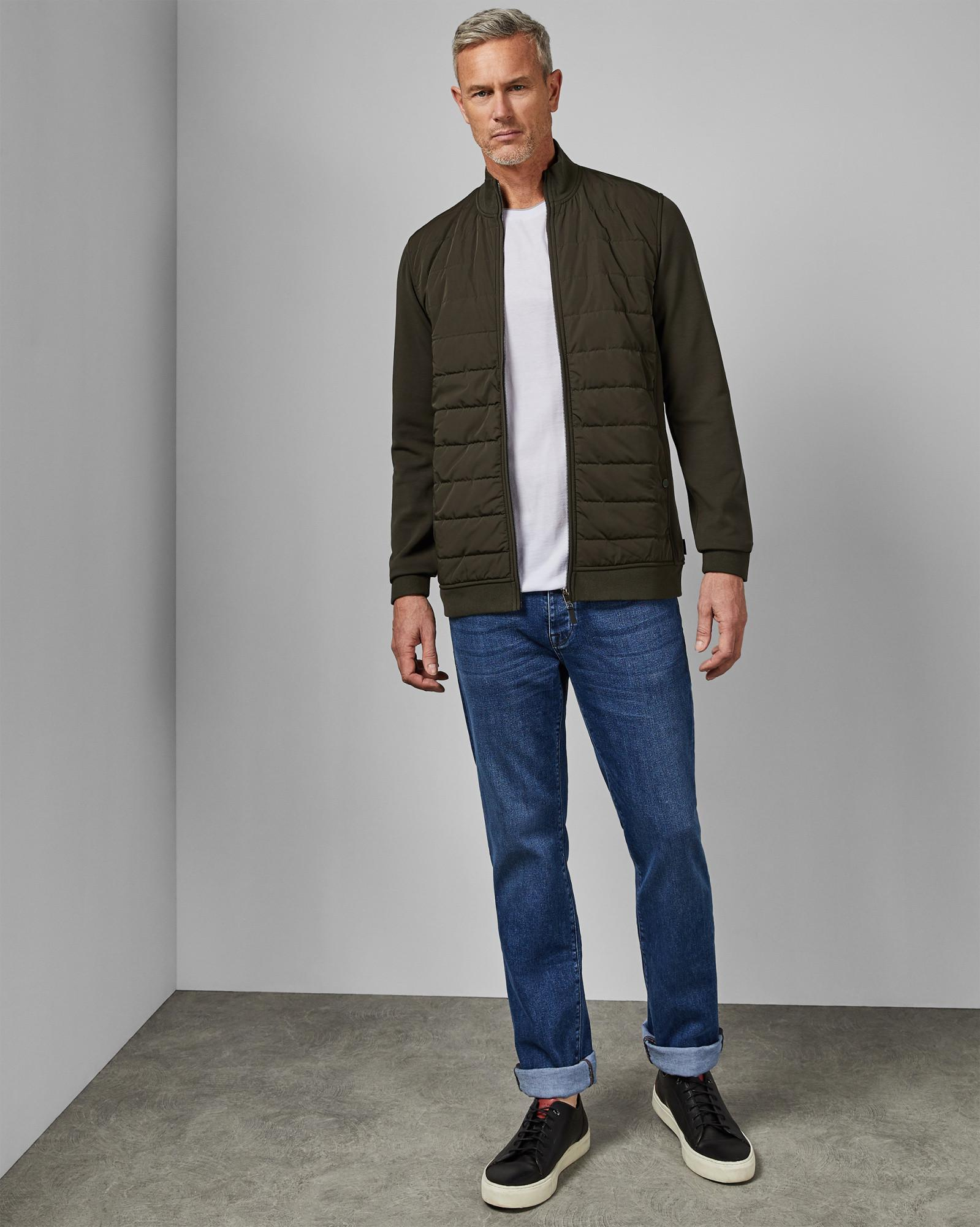 4aba89120 Lyst - Ted Baker Tall Quilted Funnel Neck Jacket for Men