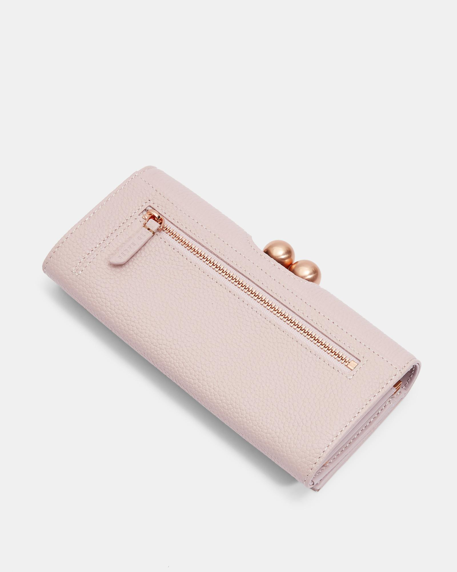88ab8a452 Ted Baker Scripted Leather Bobble Matinee Purse in Pink - Lyst