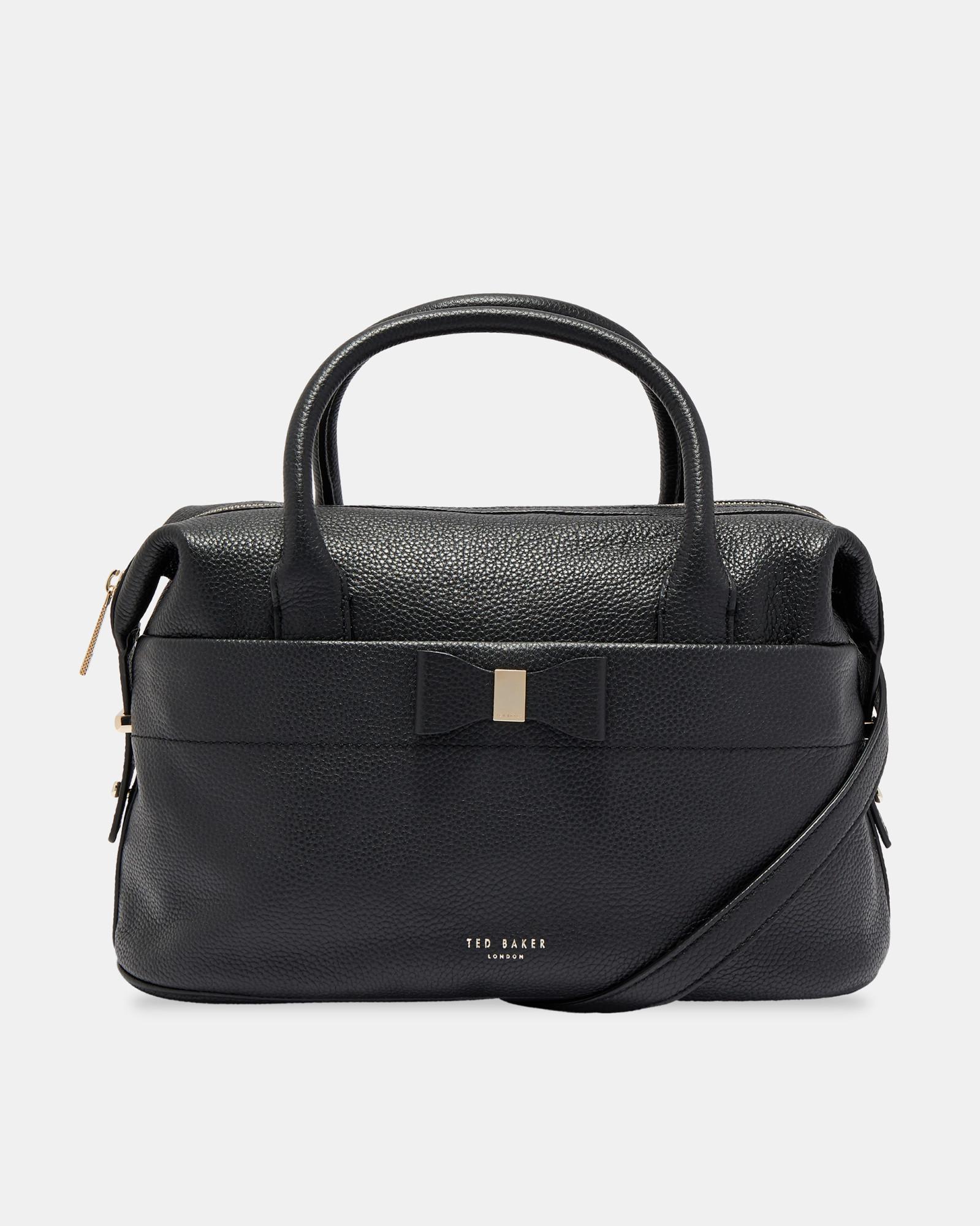 c14ba8355d7 Ted Baker Anala Leather Grab Bag in Black - Lyst