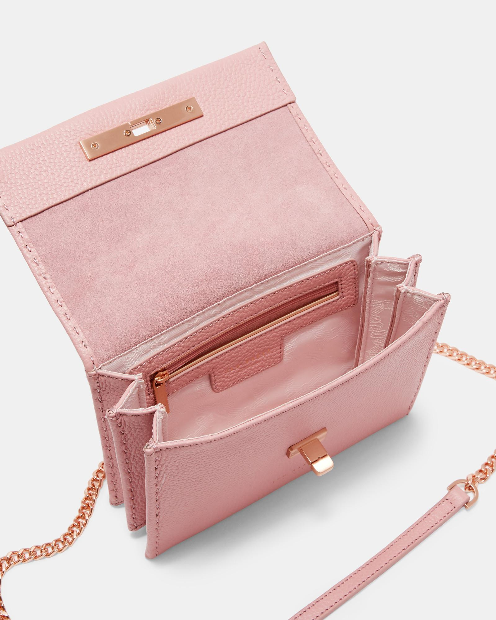 c5483cbba4 Ted Baker Concertina Mini Leather Cross Body Bag in Pink - Lyst