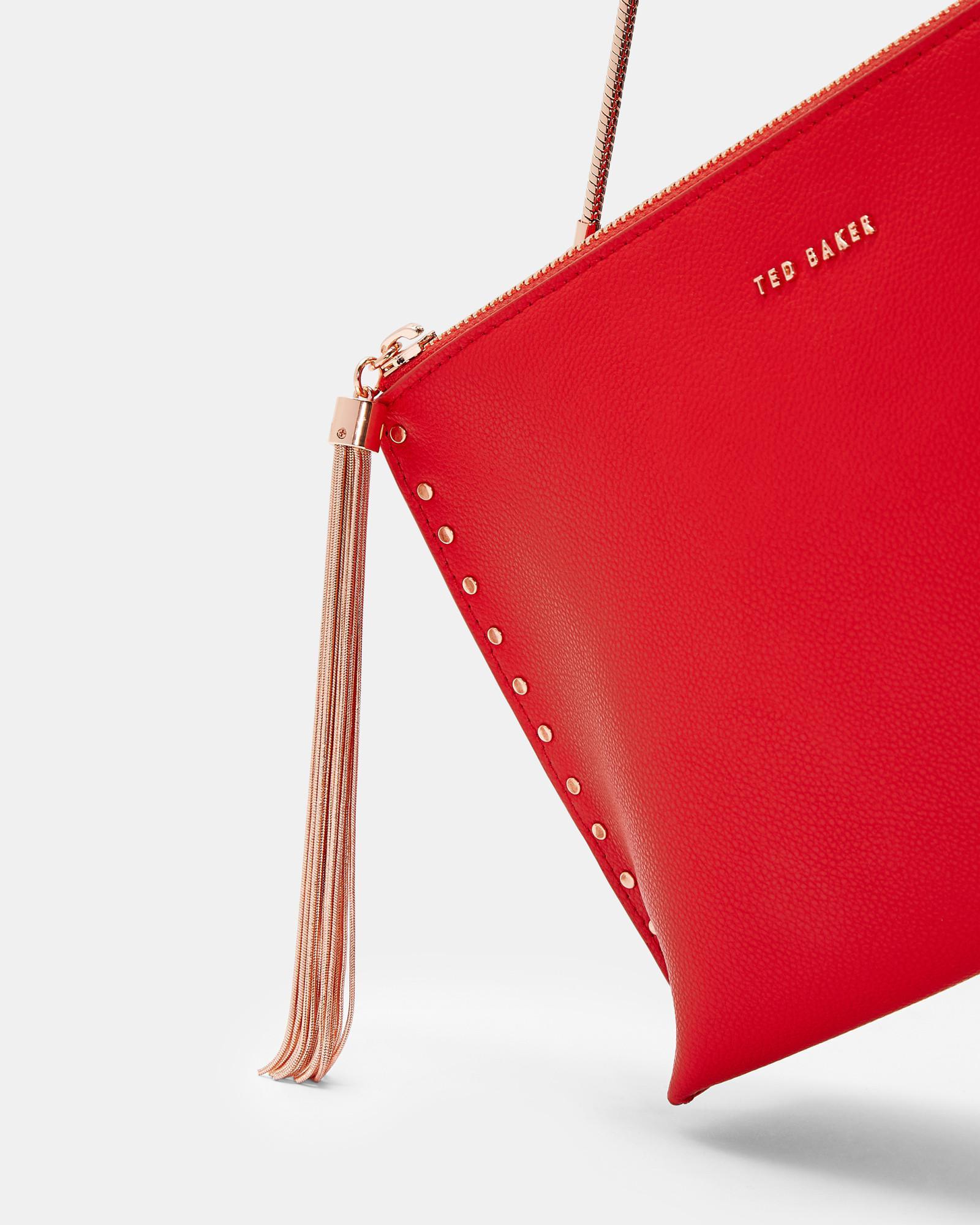 706d3fad18 Ted Baker - Red Chain Tassel Evening Bag - Lyst. View fullscreen