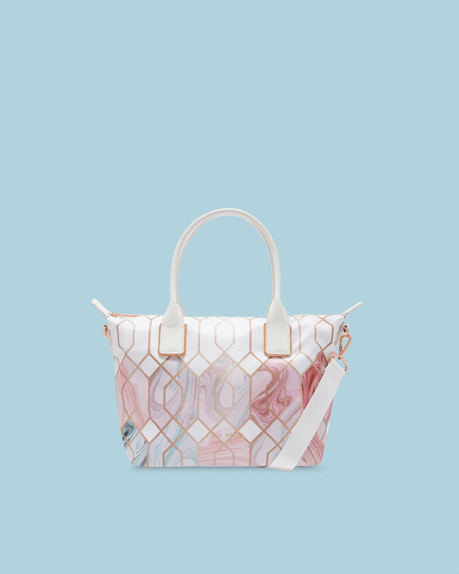 7618351f91 Ted Baker Sea Of Clouds Small Tote Bag in White - Lyst