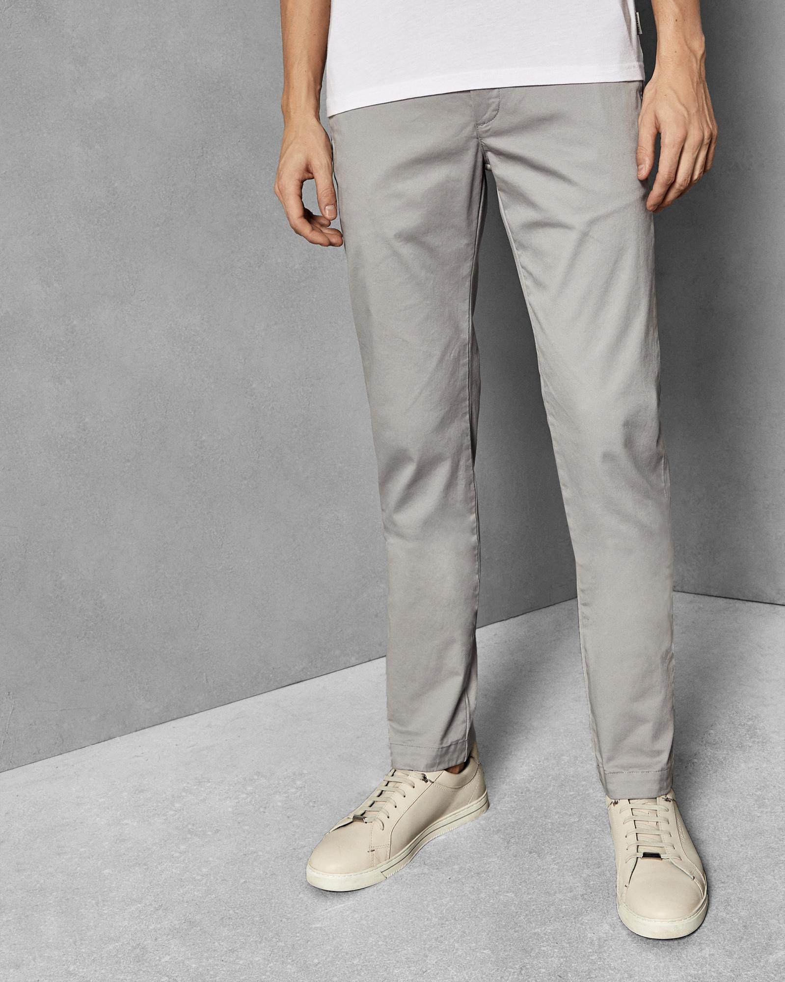 910e1de9f4edc0 Lyst - Ted Baker Slim Fit Cotton Chinos in Gray for Men