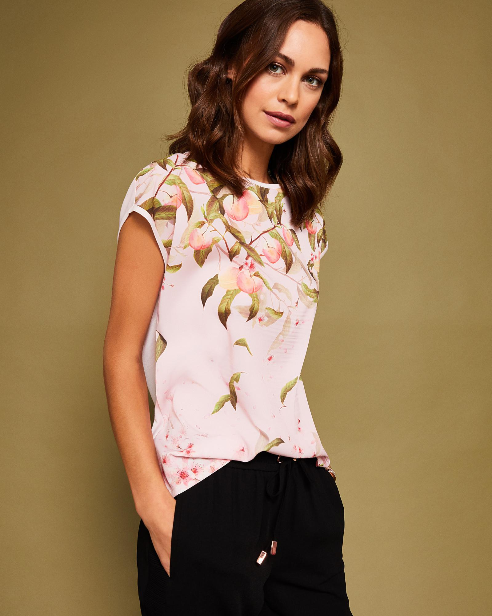 5ac0dffa6 Ted Baker Peach Blossom T-shirt in Pink - Lyst