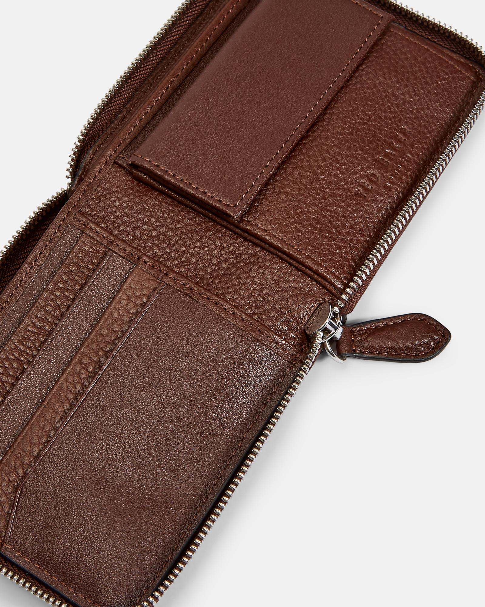 9959254108cf Ted Baker - Brown Core Leather Coin Wallet for Men - Lyst. View fullscreen