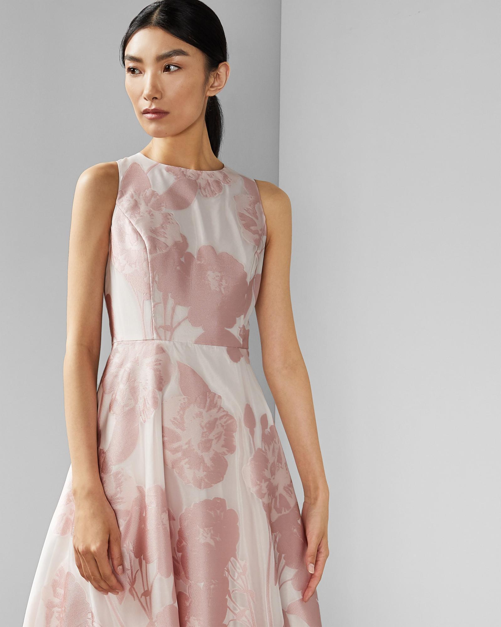 bc27bea59 Ted Baker - Pink Wylieh Jacquard Midi Dress - Lyst. View fullscreen