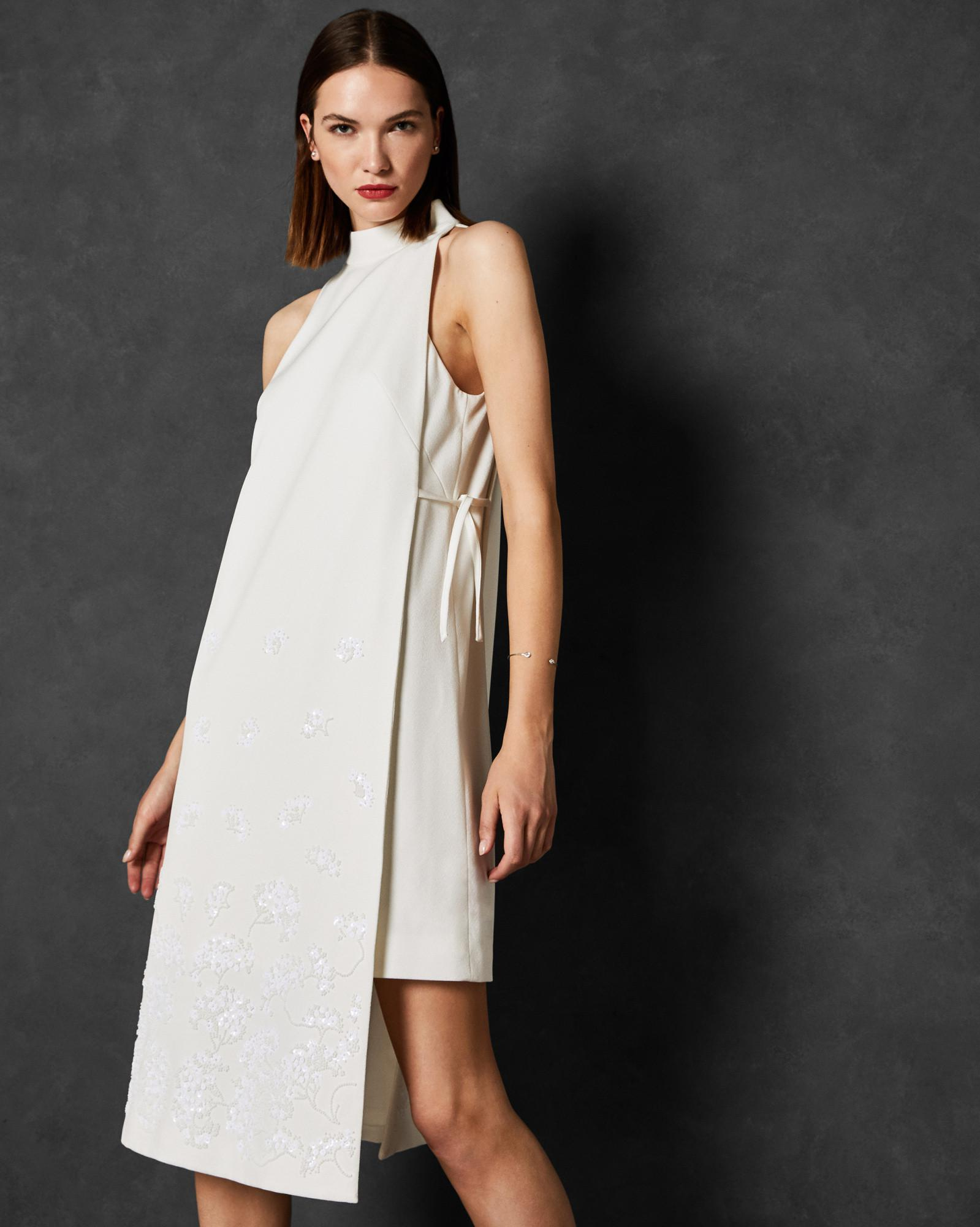 Ted Baker Double Layer Embellished Dress in White - Lyst ad00350ab