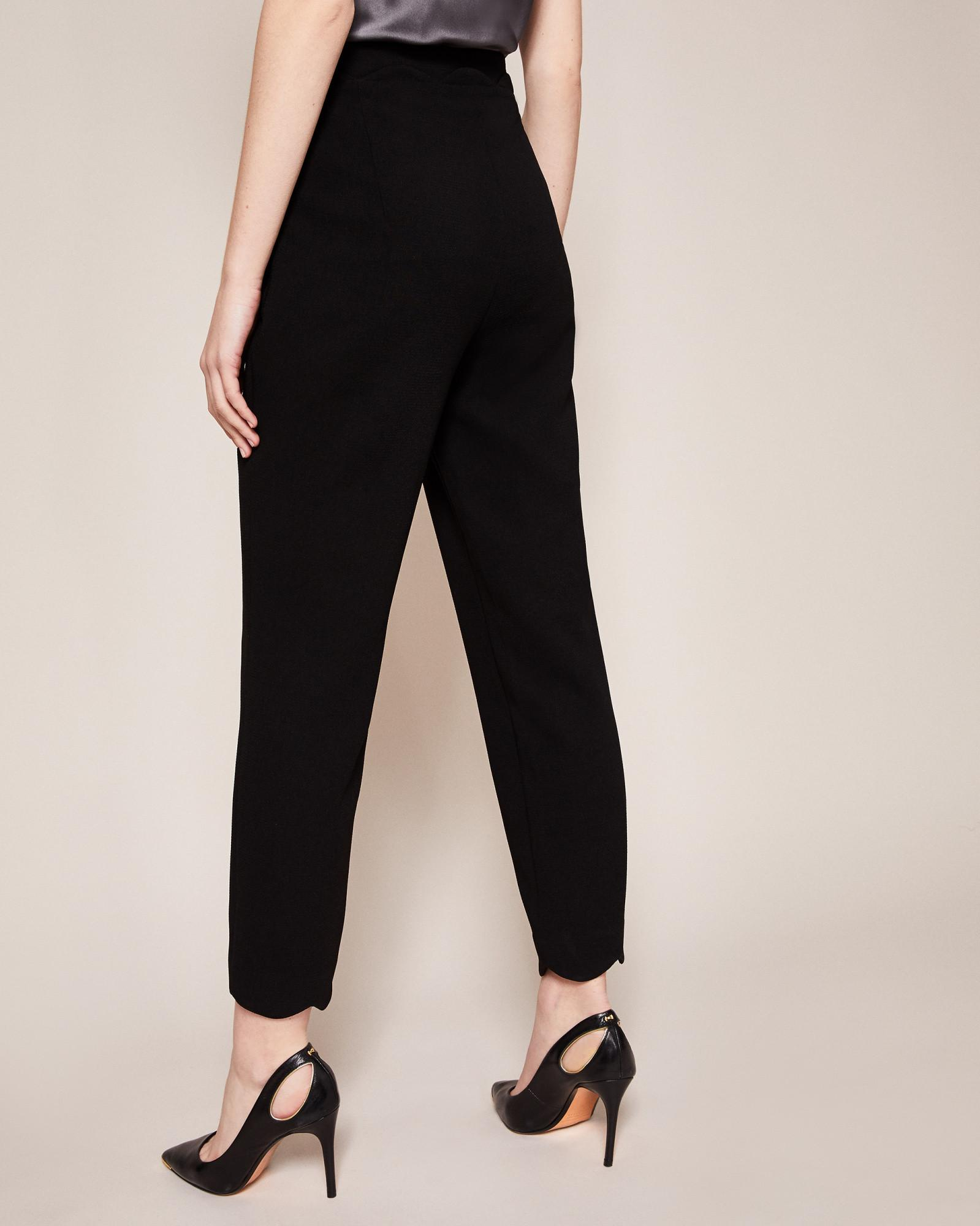 9ca921f69 Ted Baker Scallop Edge Suit Trousers in Black - Lyst