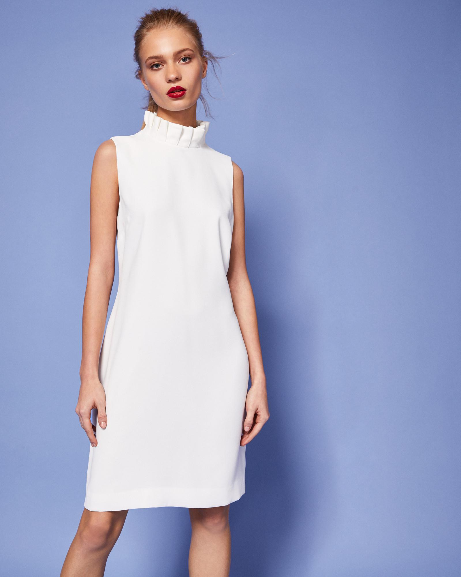 2b7e9eccddf26d Lyst - Ted Baker Dramatic Pleated Ruffle Dress in White