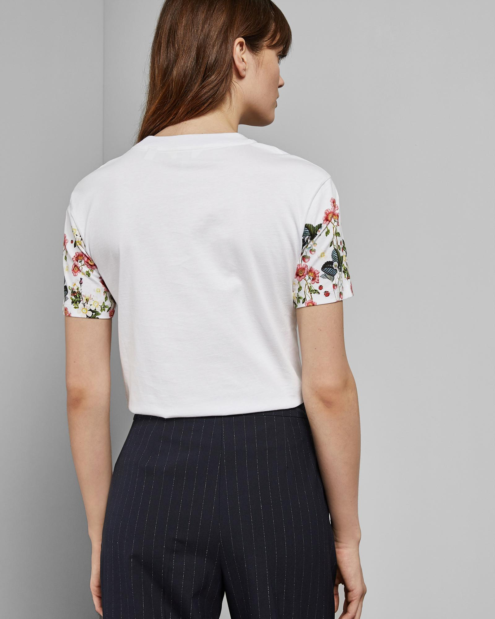 5cfc77548 Ted Baker - White Oracle Printed Cotton T-shirt - Lyst. View fullscreen