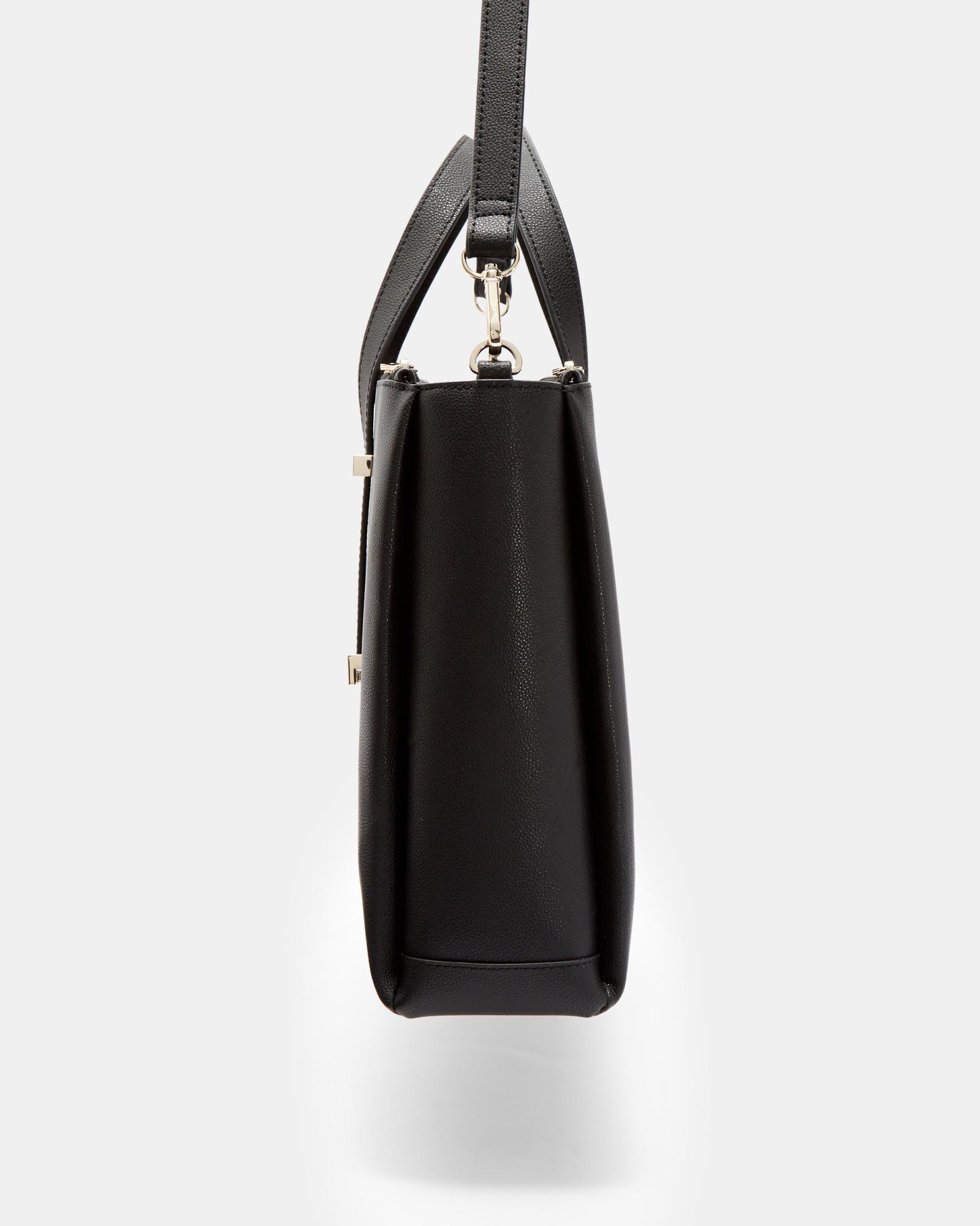 25ee07c835 Ted Baker - Black Adjustable Handle Leather Laptop Bag - Lyst. View  fullscreen