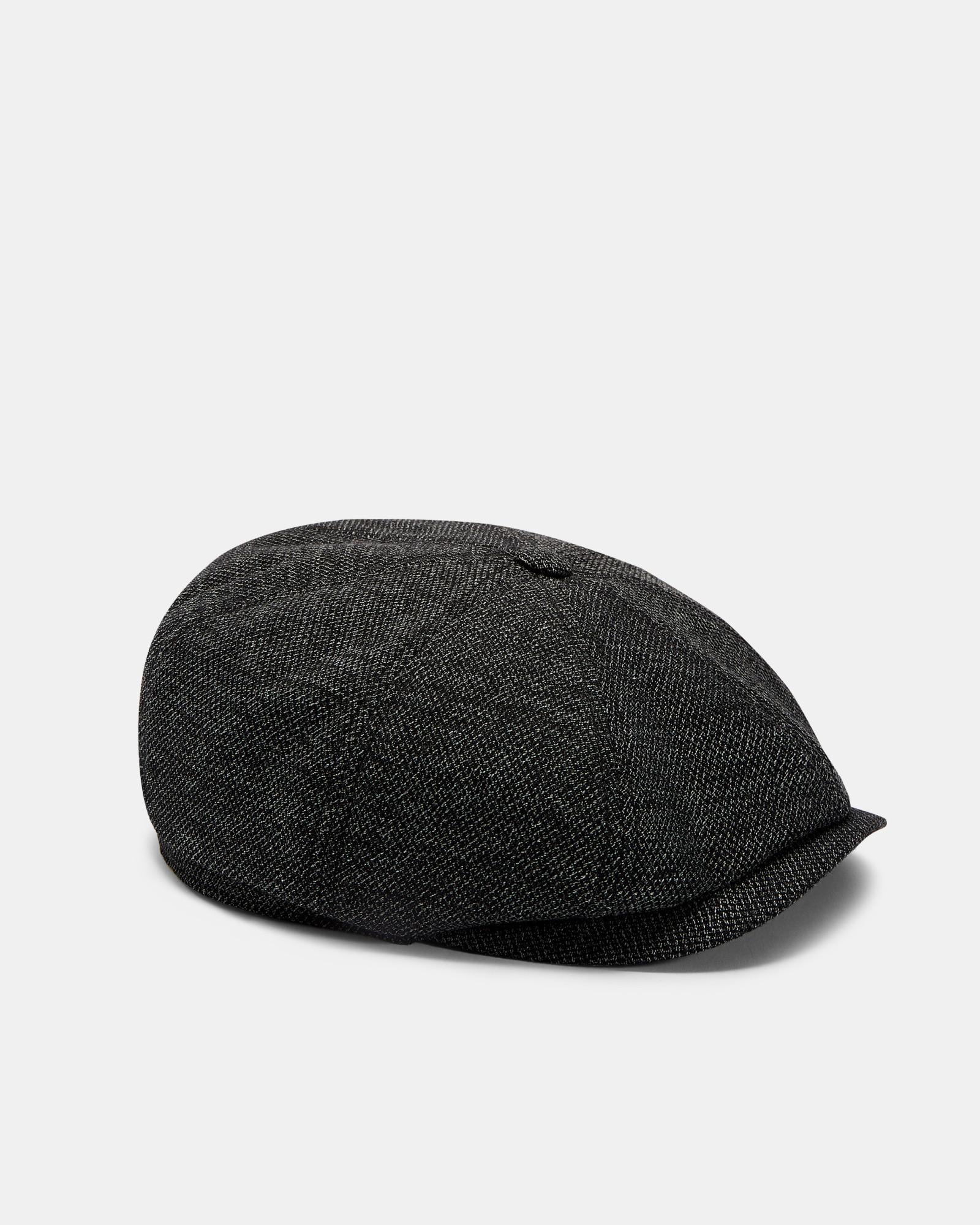 54bb82f477ebb4 Ted Baker Textured Baker Boy Hat in Gray for Men - Lyst