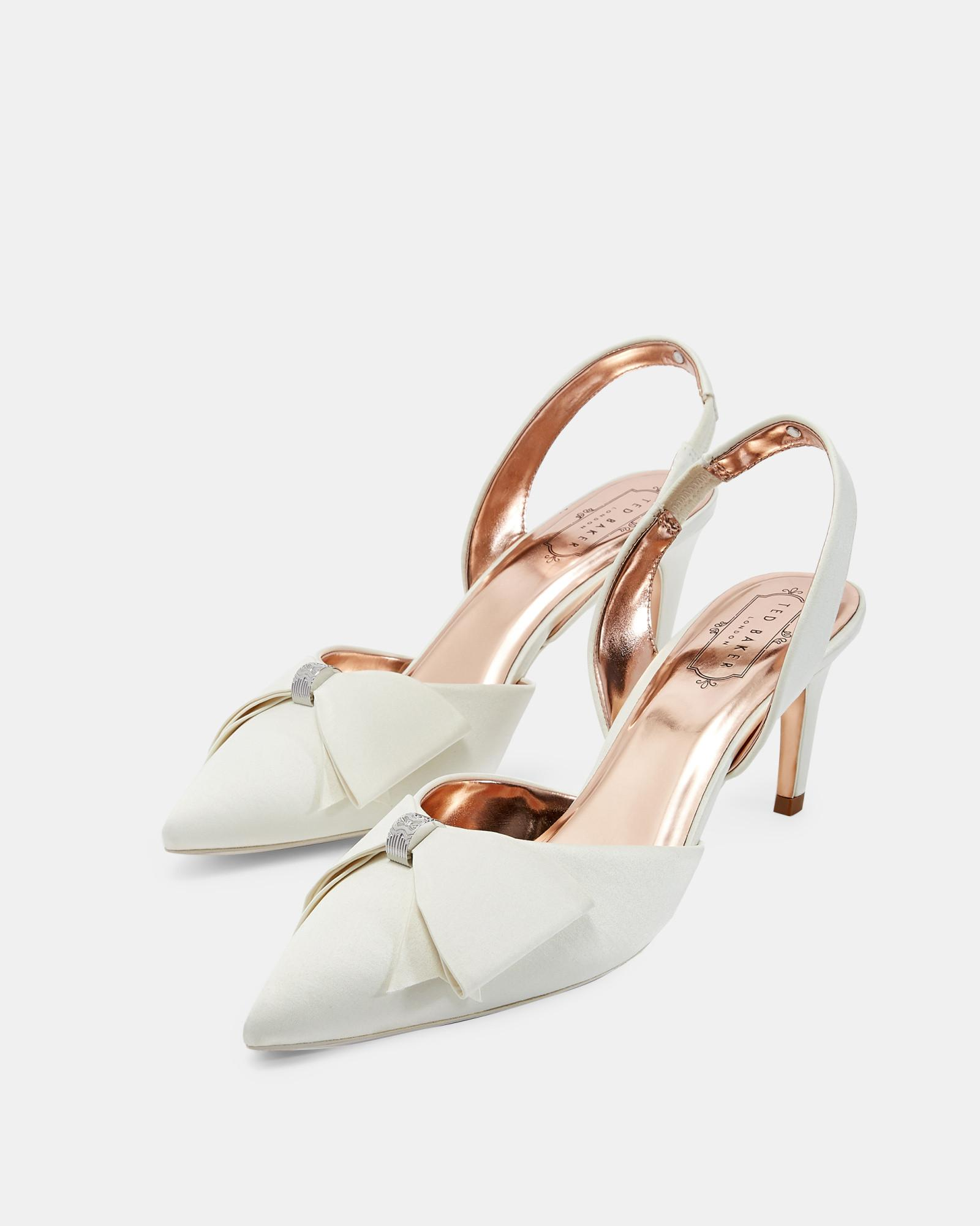 f121934ec27 Ted Baker Bow Detail Sling Back Courts in White - Lyst