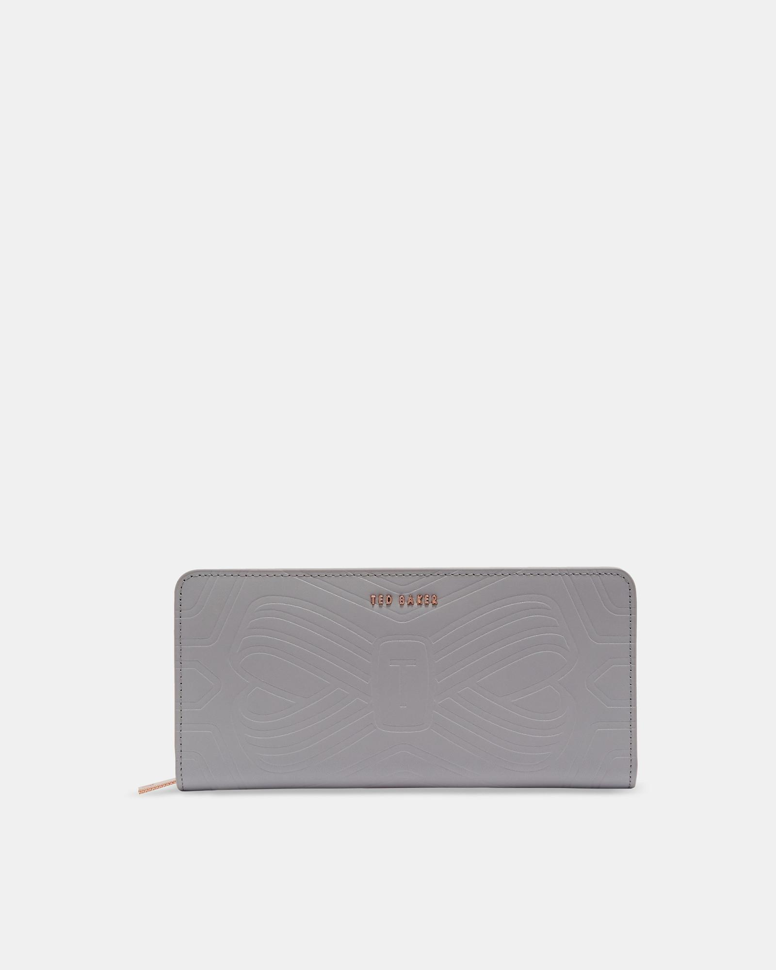 56700c9e2838 Ted Baker - Gray Embossed Bow Leather Matinee Purse - Lyst. View fullscreen