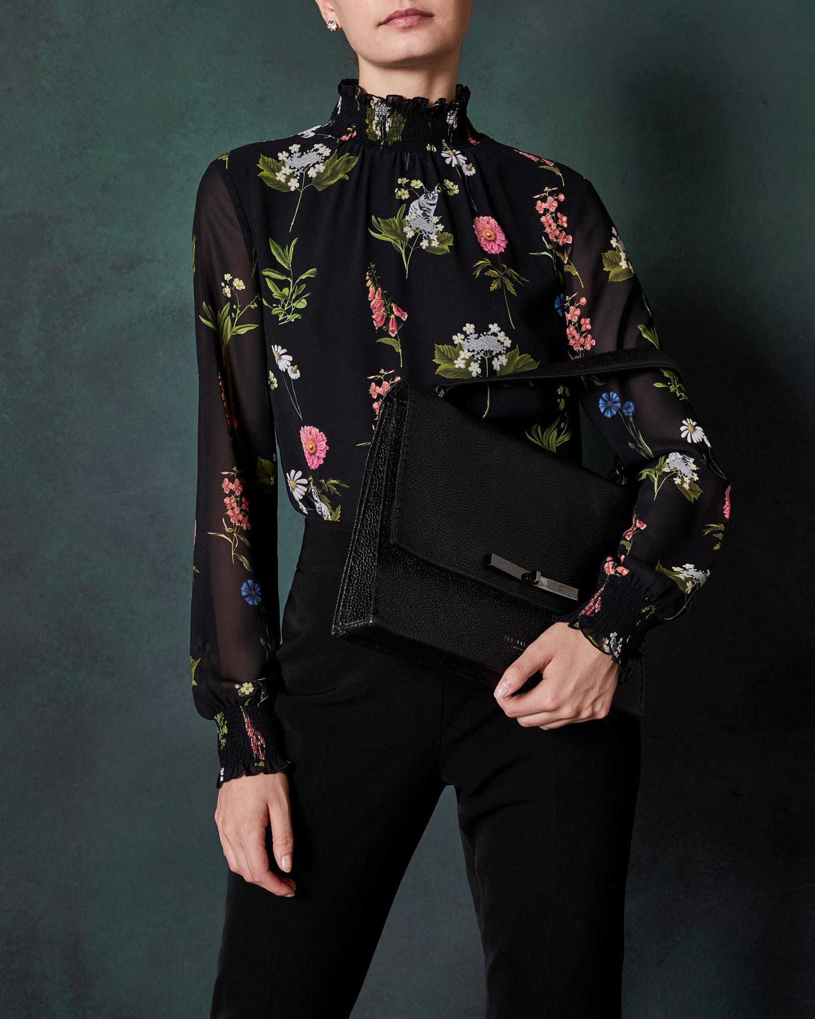 d18ee8681d51 Ted Baker Jessi Leather Shoulder Bag - in Black - Lyst
