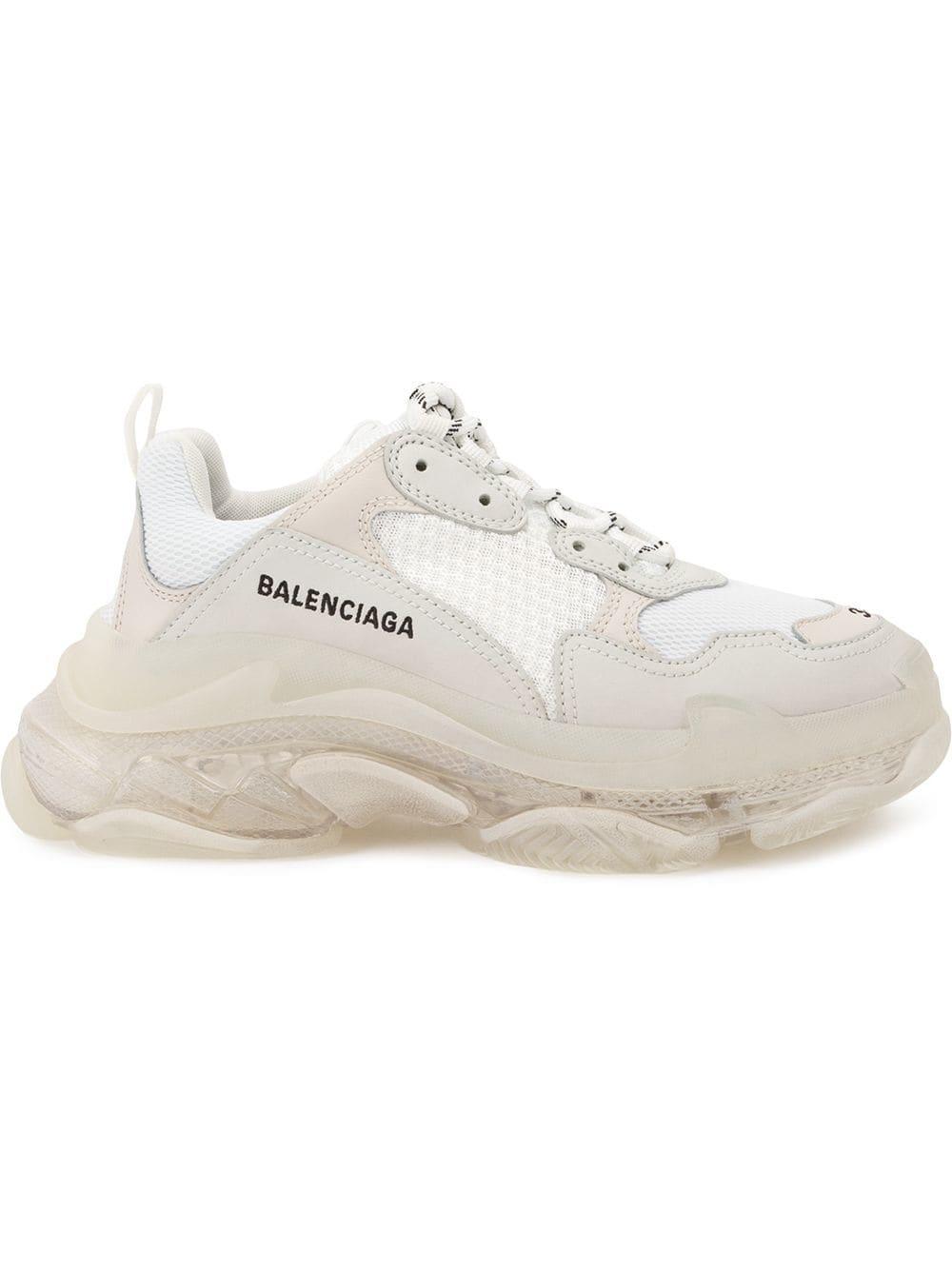 13566e22f36dd Balenciaga - White Triple S Sneakers - Lyst. View fullscreen