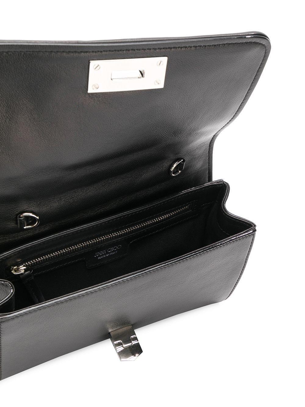 e785e155ca3 Jimmy Choo - Black Helia Leather Clutch - Lyst. View fullscreen