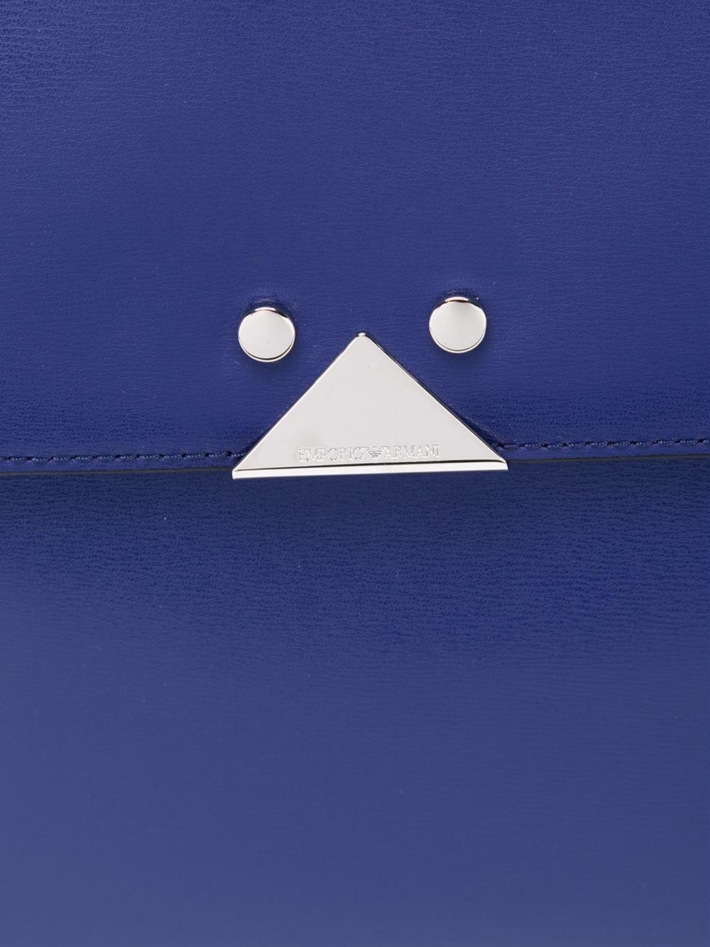 In Blue Armani 'blu Emporio Deco' Tote Medium Lyst AUXPnqWvO
