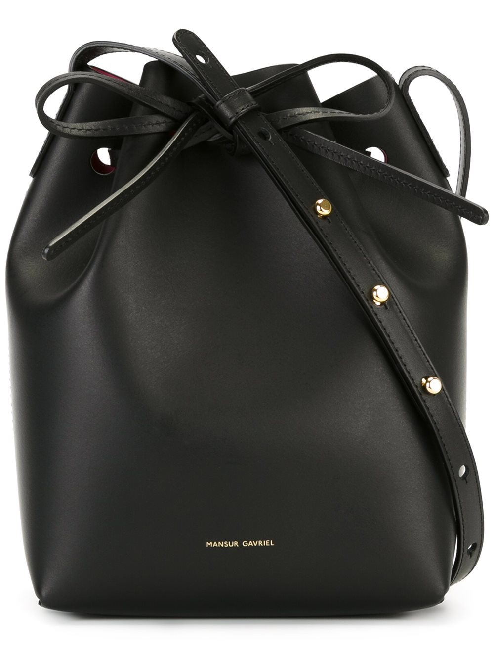 mansur gavriel mini bucket bag lyst. Black Bedroom Furniture Sets. Home Design Ideas
