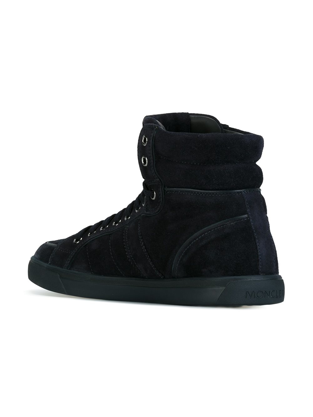 Lyst Moncler Lyon Hi Top Sneakers In Black For Men
