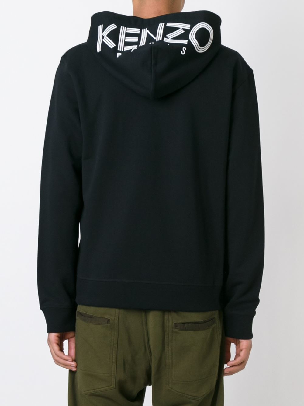 kenzo hoodie with logo in blue for men