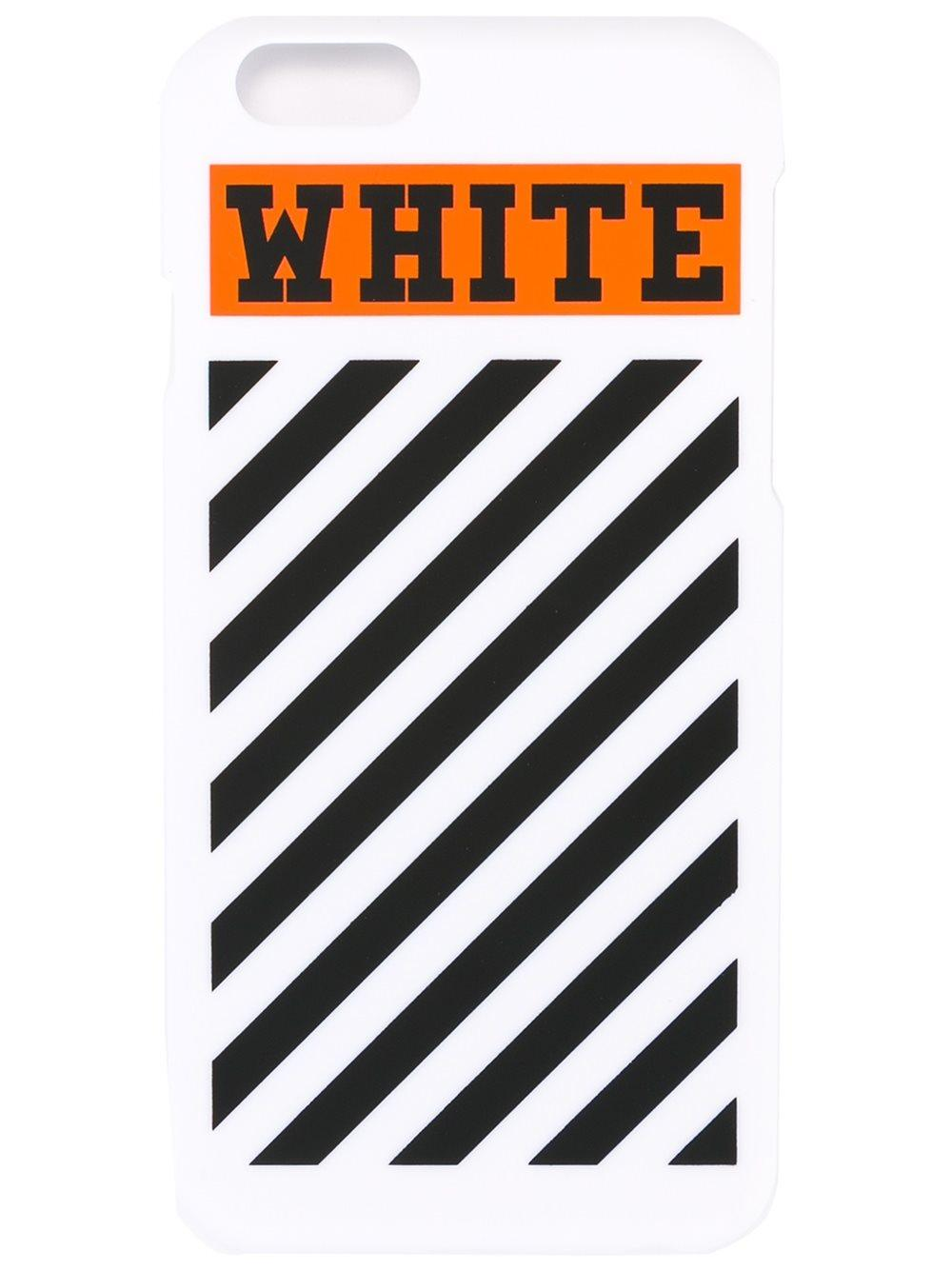 ... Virgil Abloh : Multicolor Striped I-phone Cover With Logo : Lyst