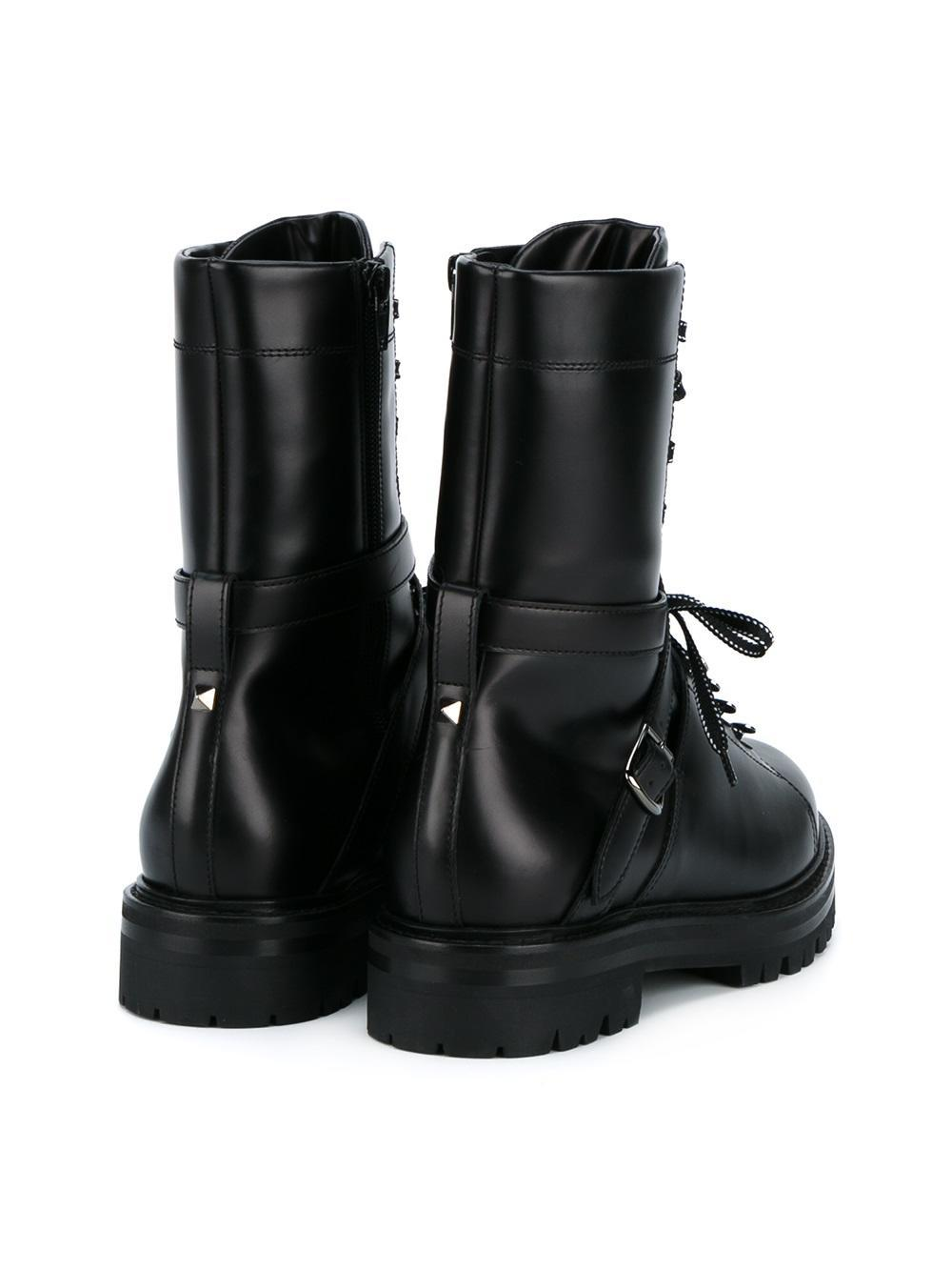 3a3cf781d89d VALENTINO Nylon Rockstud Snow Boots S 35-37 White 105015. Valentino Rockstud  Leather Combat Boot for Men