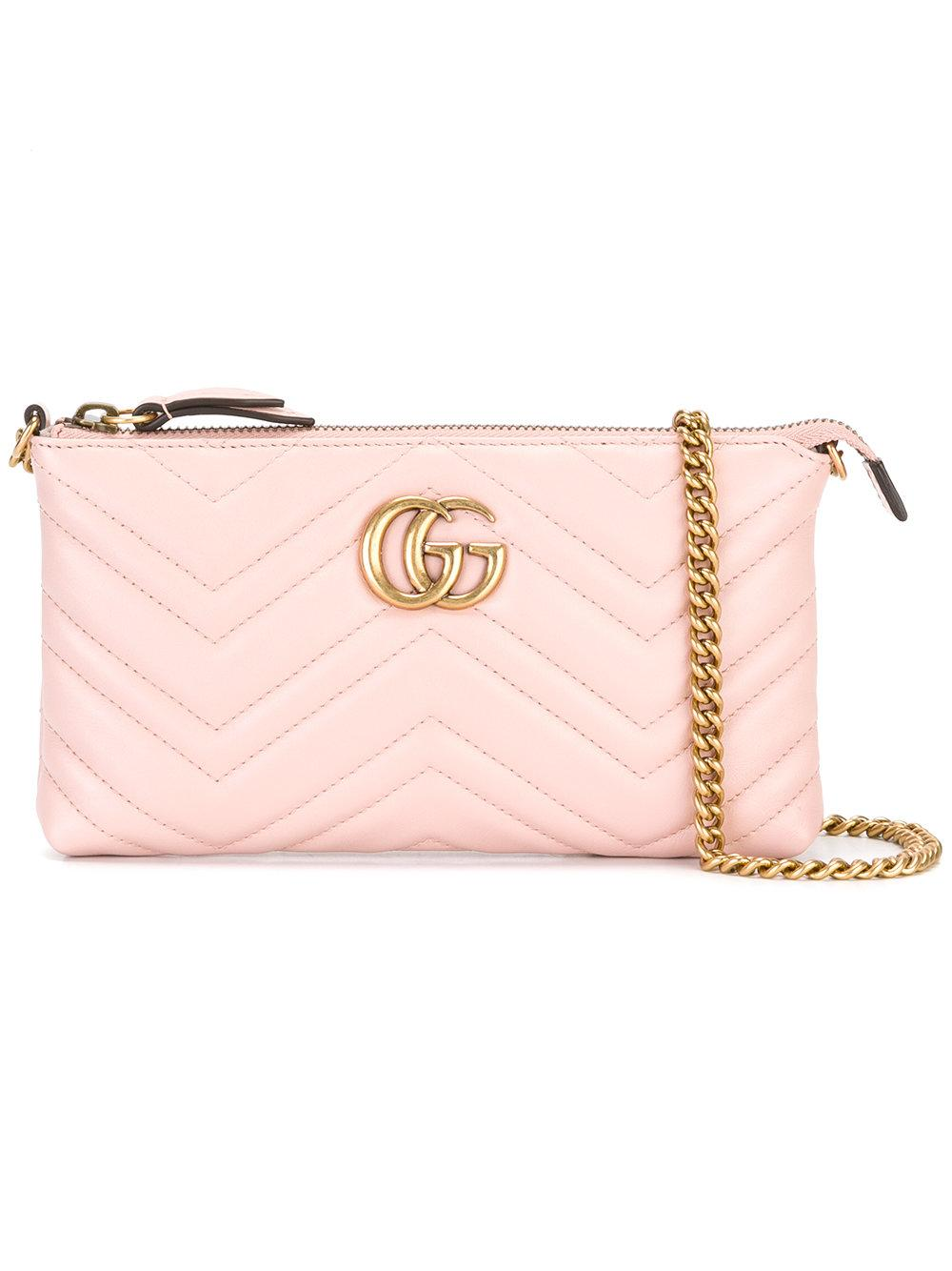 810a71672733 Gucci Marmont Belt Bag Pink