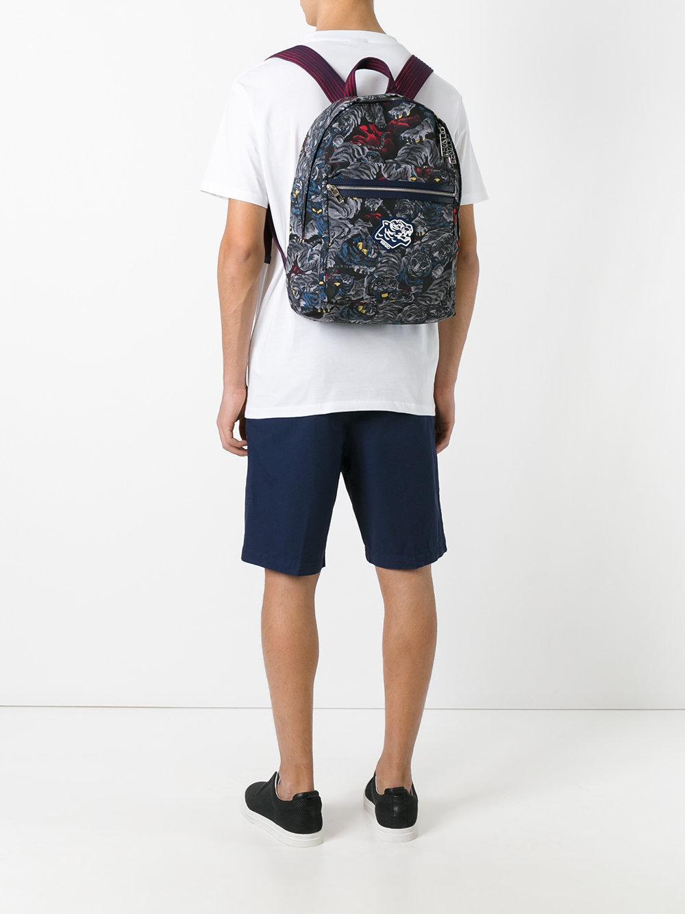 kenzo tiger backpack in blue for men lyst. Black Bedroom Furniture Sets. Home Design Ideas