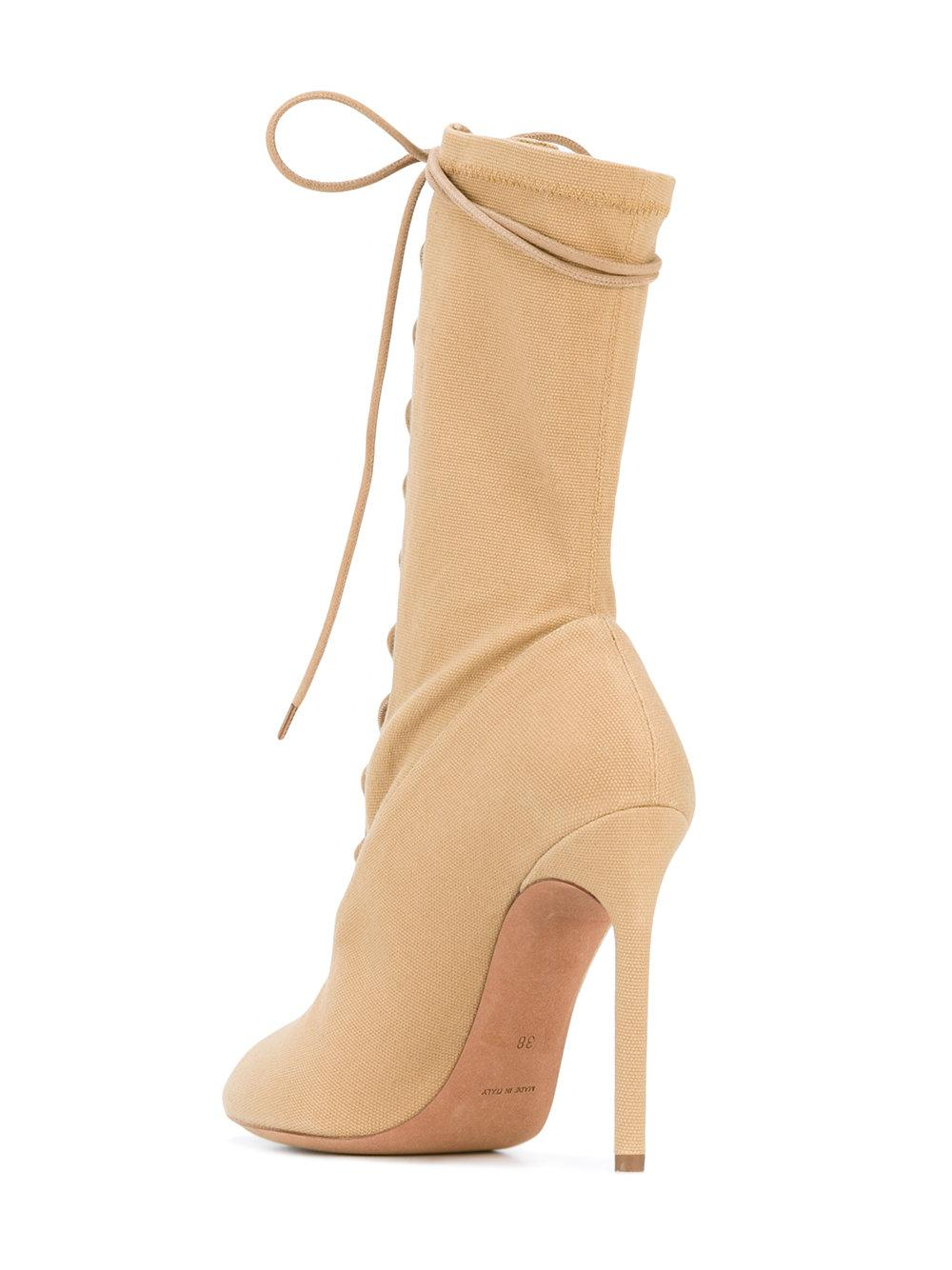 7dcdd6d51e4 Lyst - Yeezy Lace Up Boots in Natural