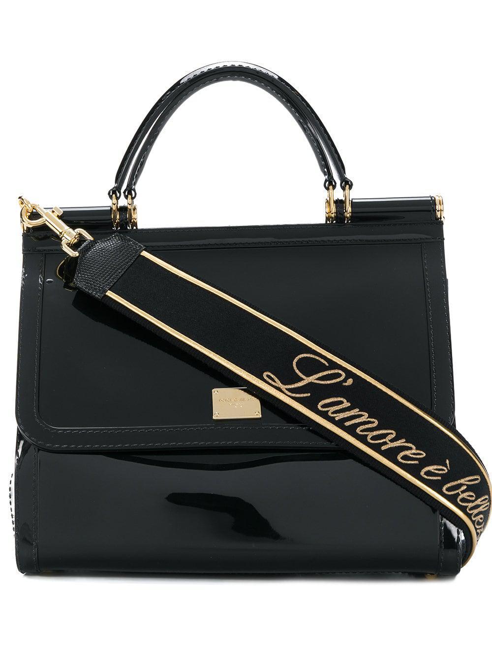 37e3d7d97552 Lyst - Dolce   Gabbana Sicily Rubber Bag in Black - Save 48%