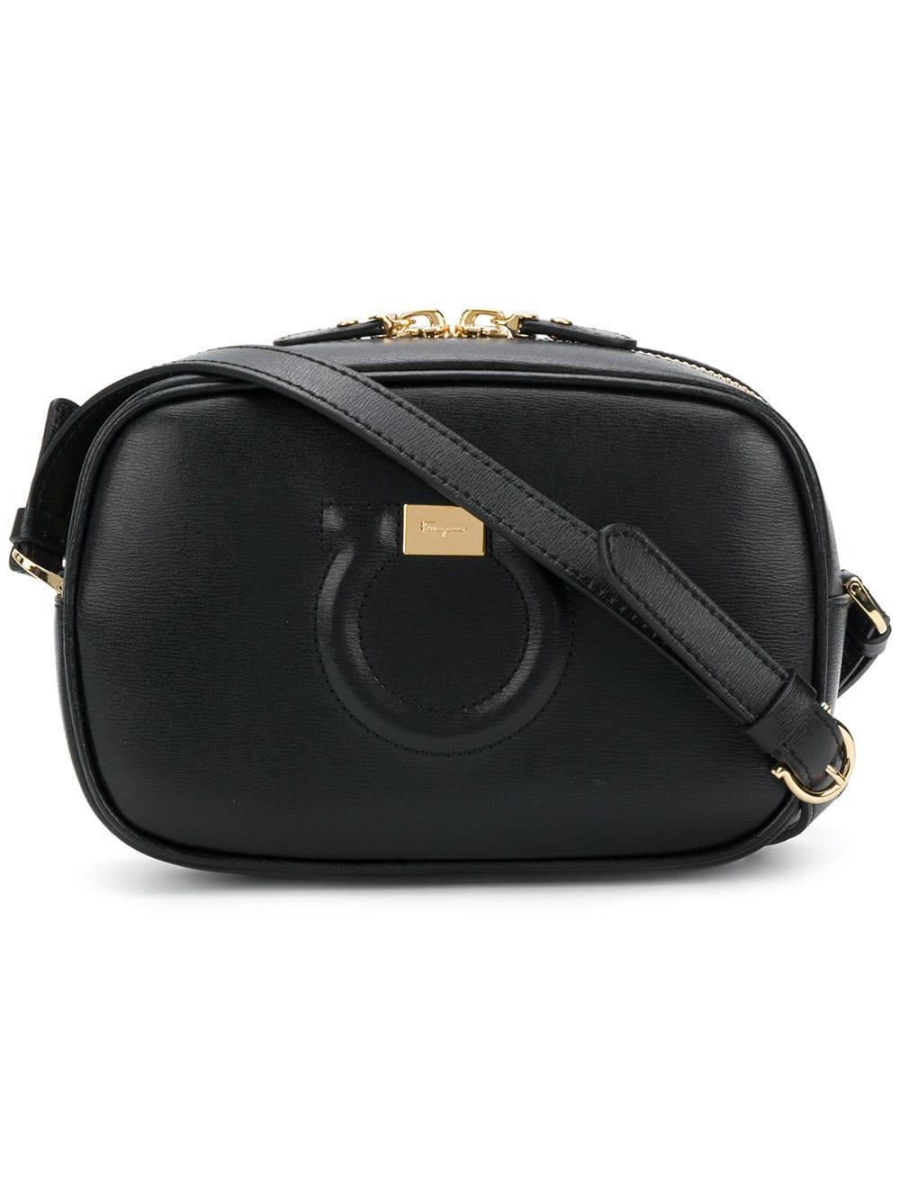 e55ccd6af233 Lyst - Ferragamo City Leather Shoulder Bag in Black - Save 6%
